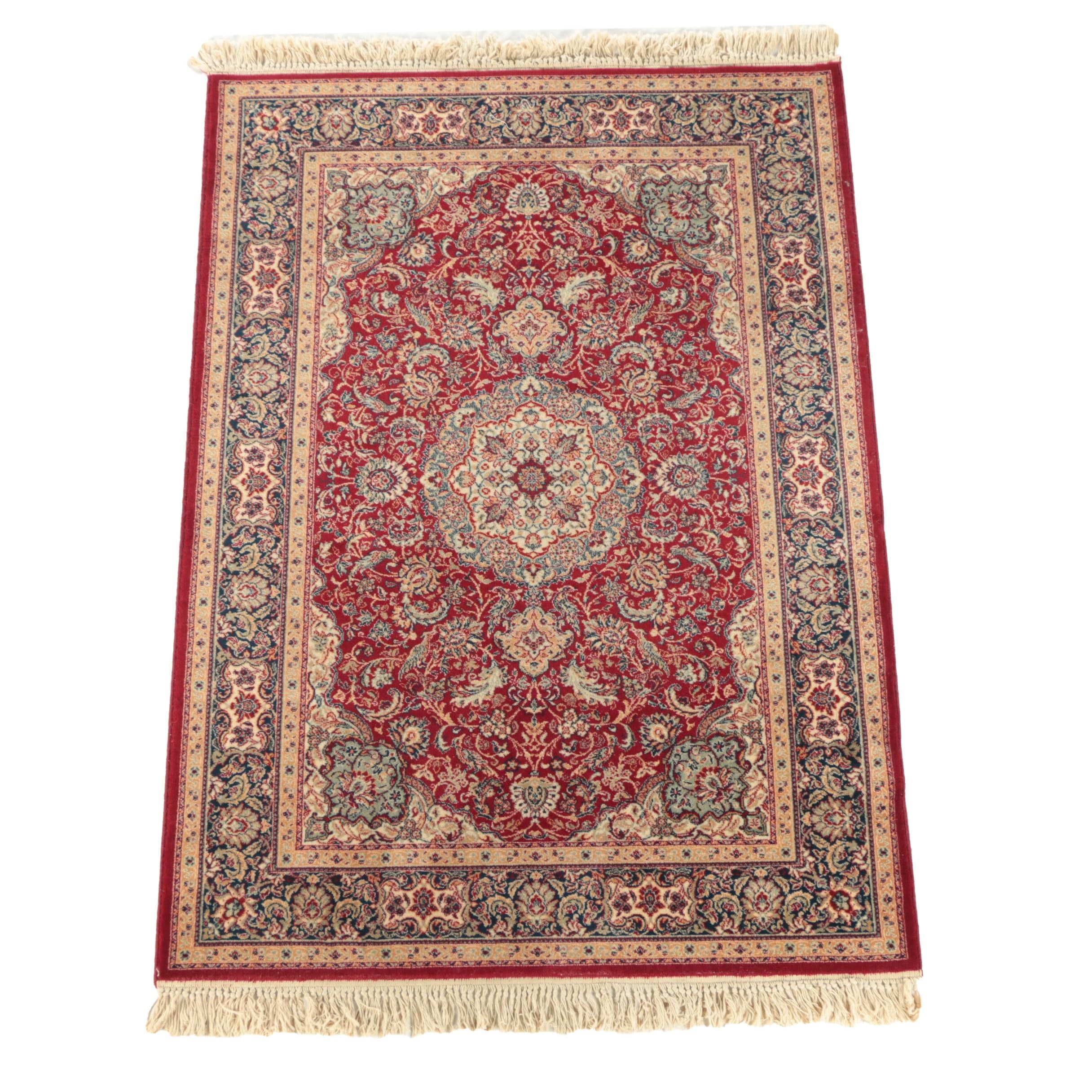 Vintage Power-Loomed Couristan Persian-Style Wool Area Rug