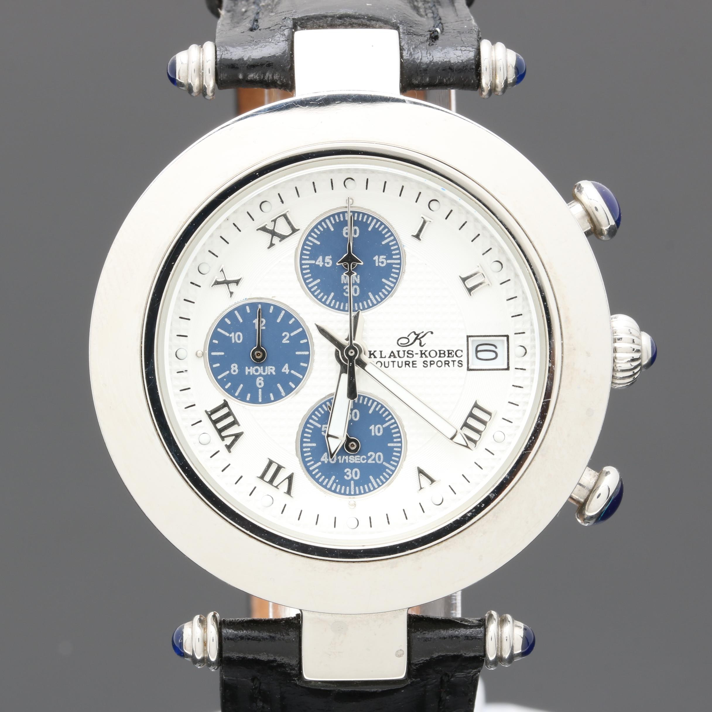 Klaus-Kobec Stainless Steel Chronograph Wristwatch