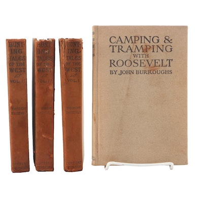 """1907 """"Hunting Tales of the West"""", Volumes One -Three , by Theodore Roosevelt"""