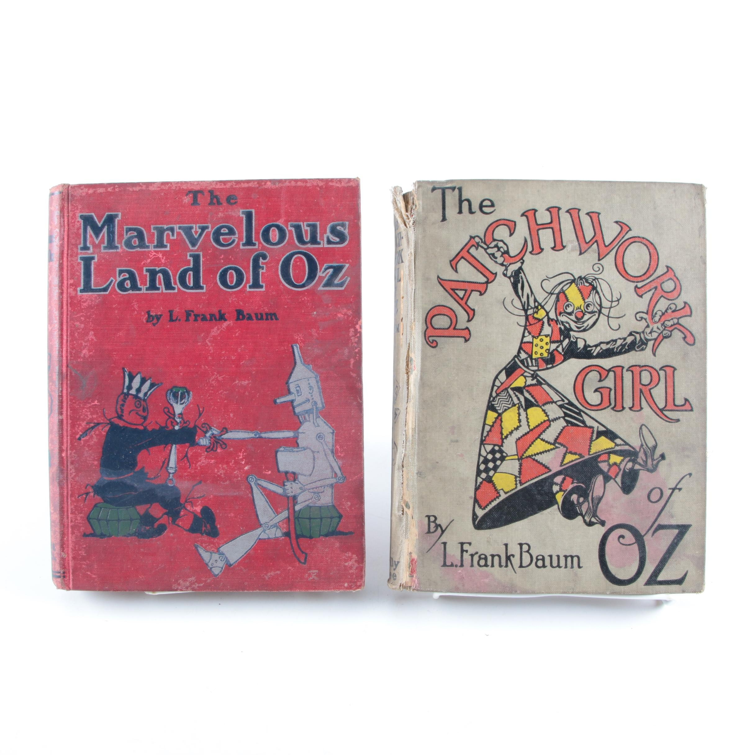 "1904 ""The Marvelous Land of Oz"" and 1913 ""The Patchwork Girl"""