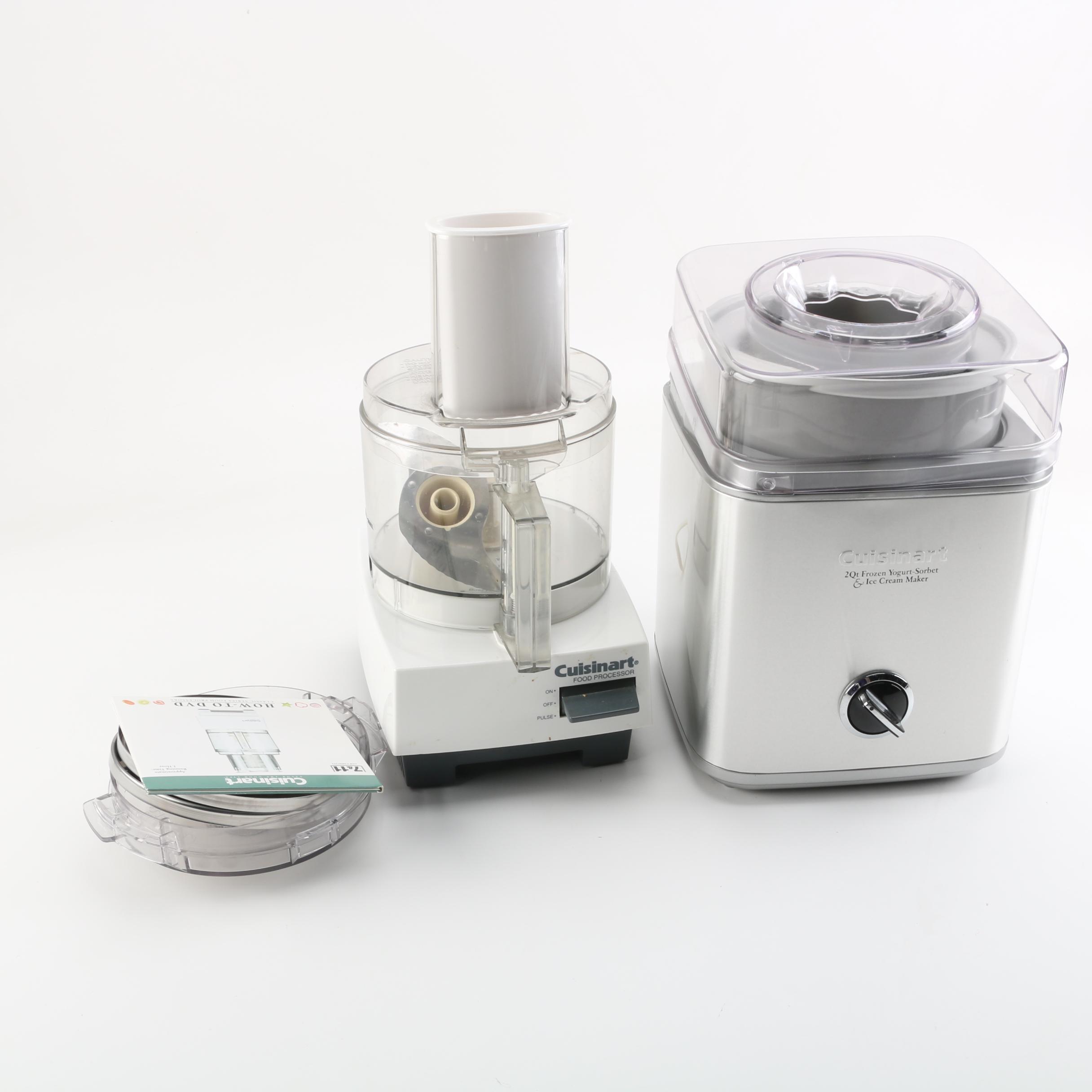 Cuisinart Food Processor and Frozen Yogurt-Sorbet & Ice Cream Maker