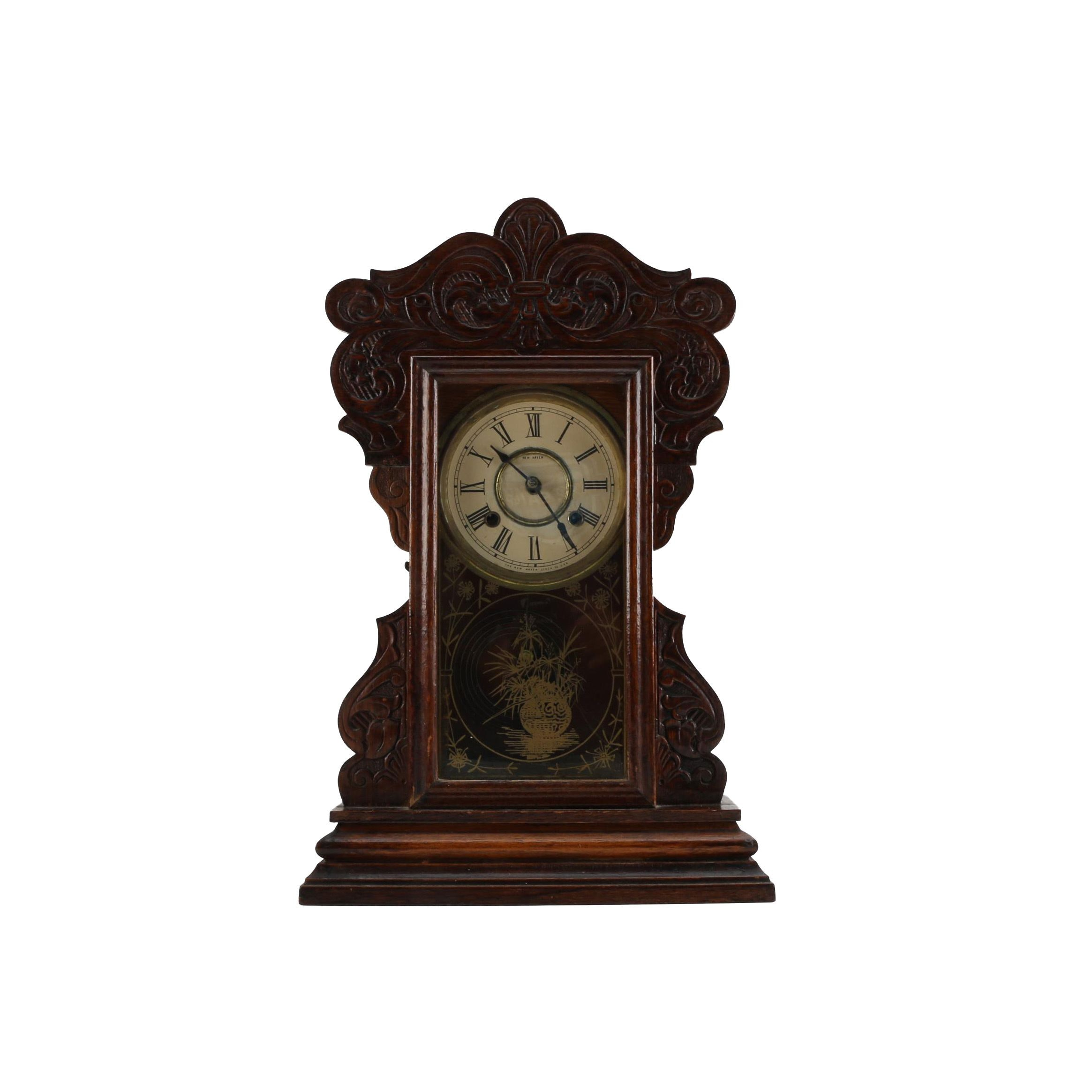 "Late 19th Century New Haven Clock Co. ""Cunard Line"" Mantel Clock"