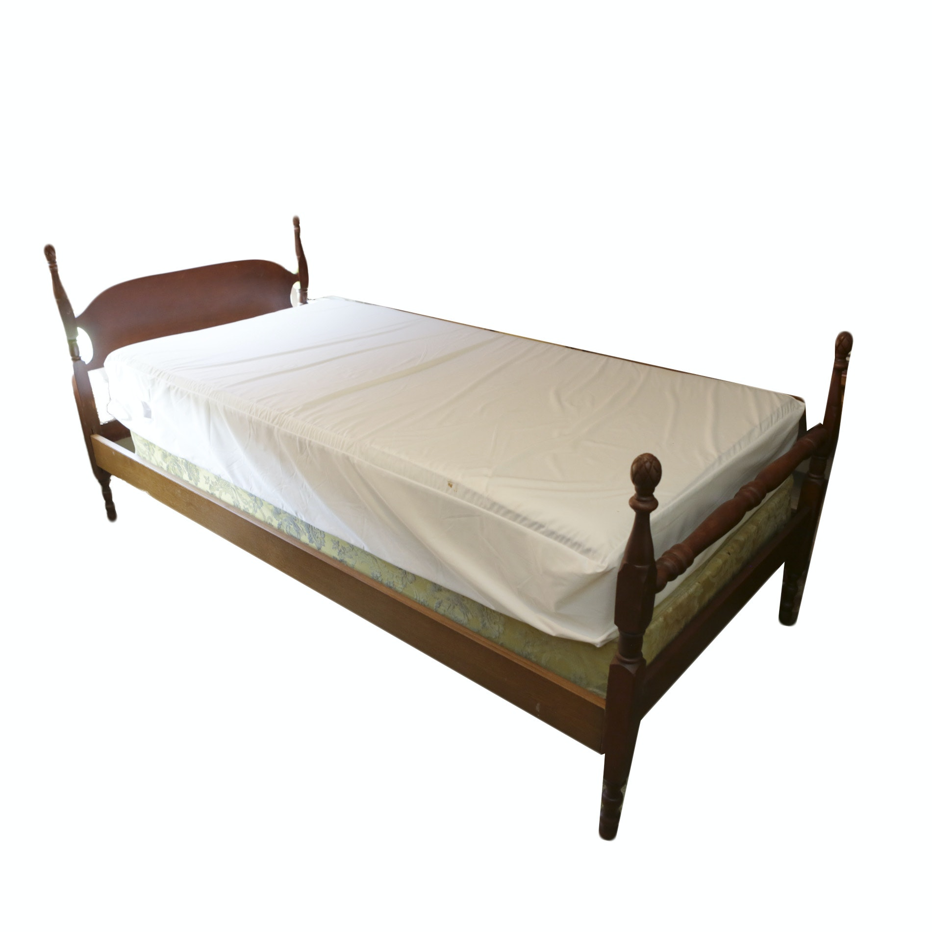 Vintage Wood Twin Bedframe