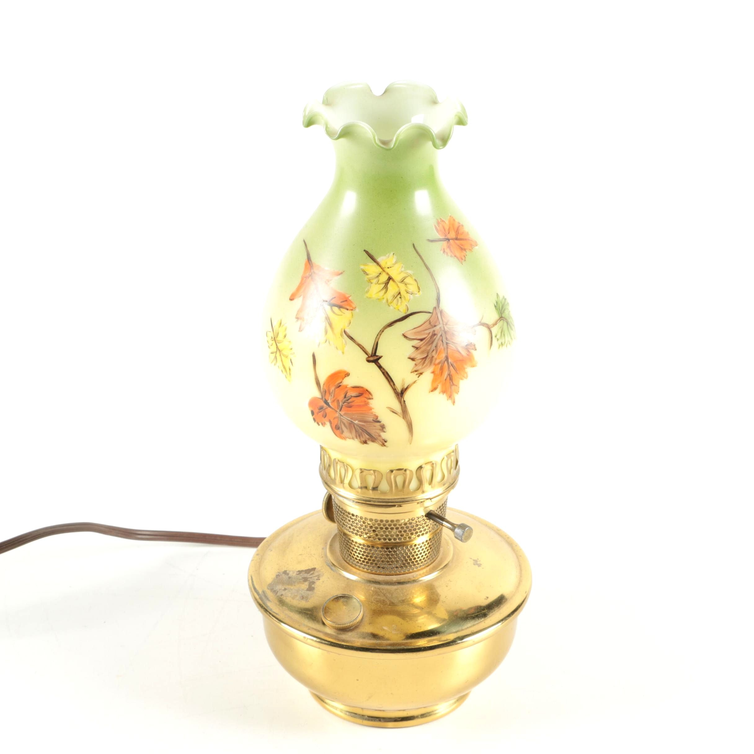 Vintage Converted Oil Accent Lamp