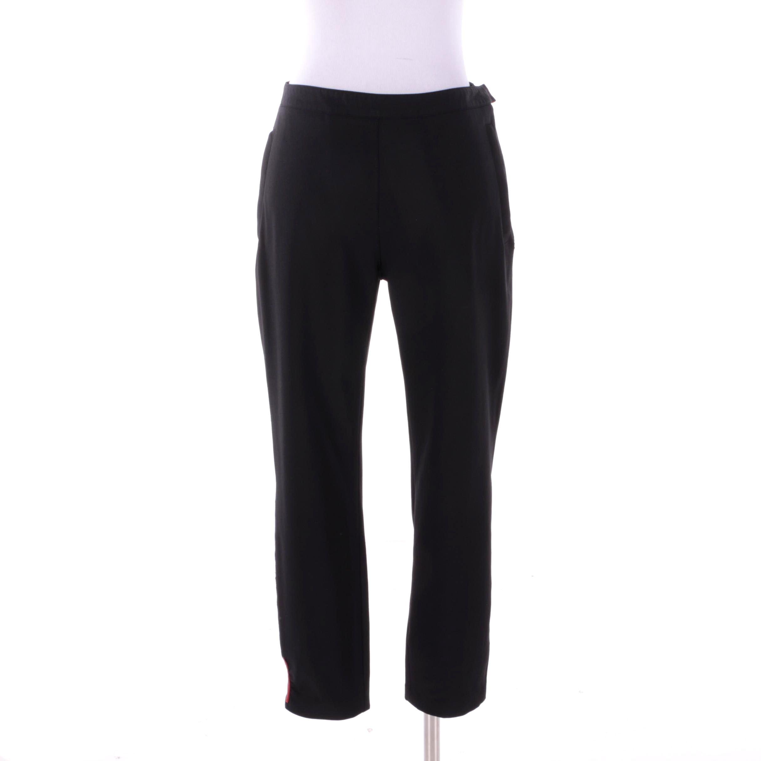 Women's Prada Black Nylon Blend Trousers