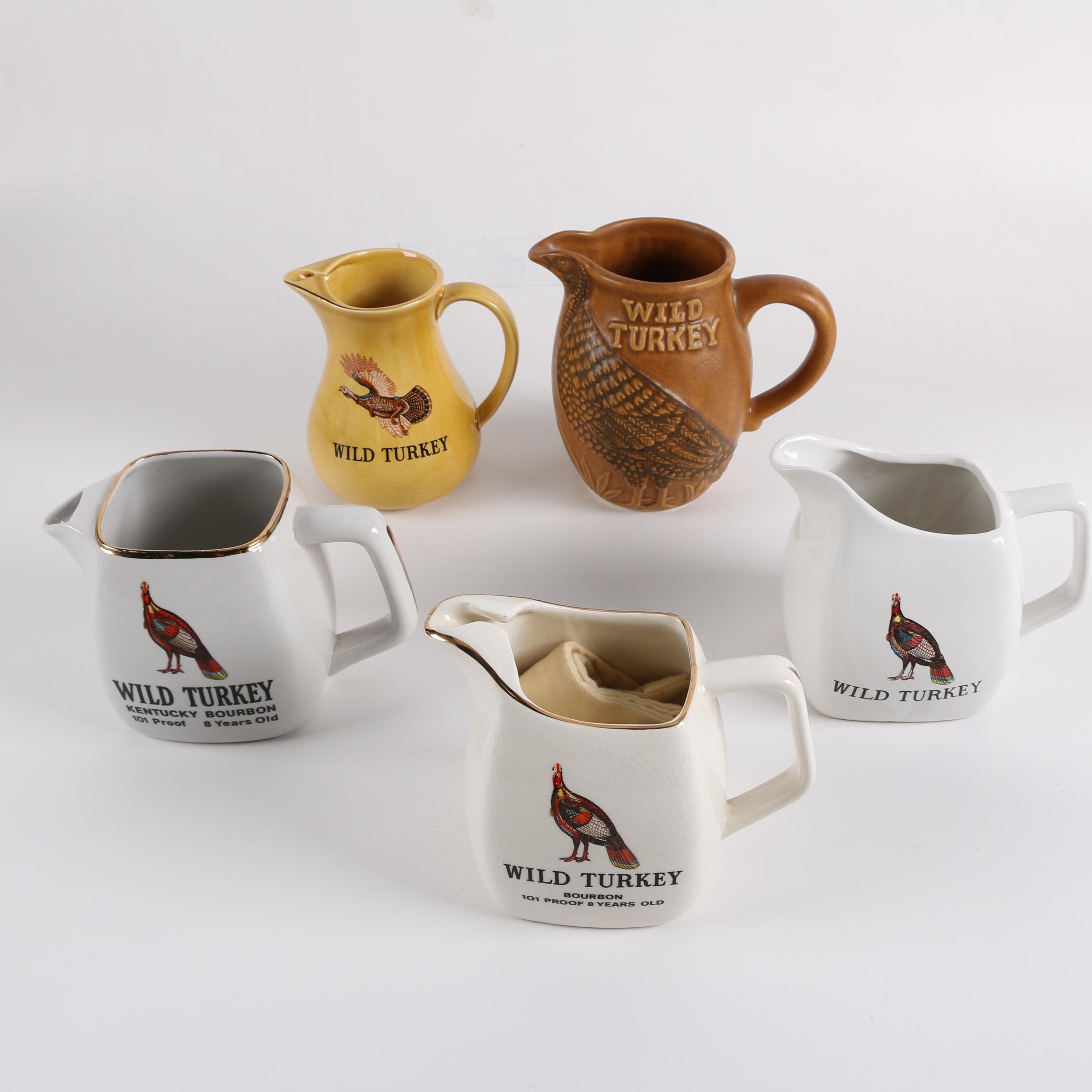 Wild Turkey Bourbon Ceramic Pub Jugs