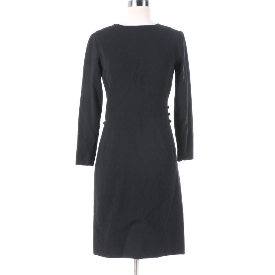b7f2c8ad2ad 1960s Vintage Balenciaga Black Button Waist Cocktail Dress   EBTH