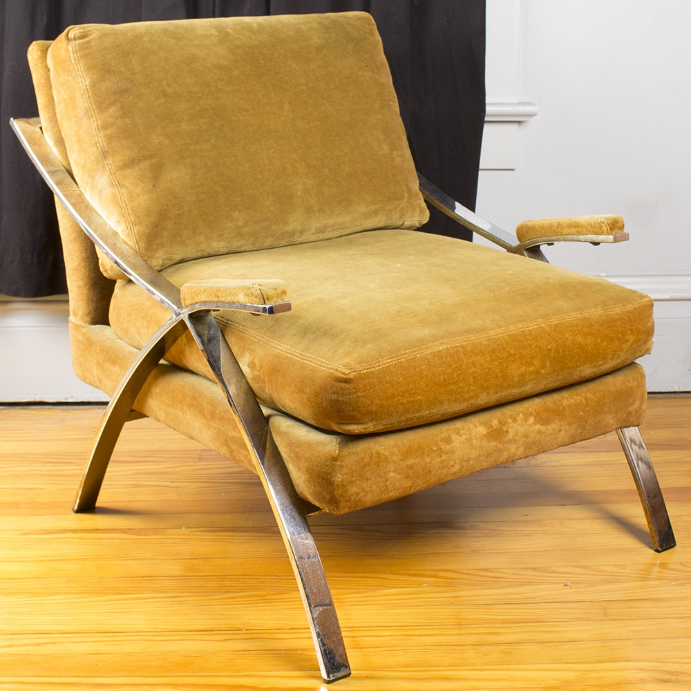 """Expression"" Chrome Lounge Chair by Carson's"