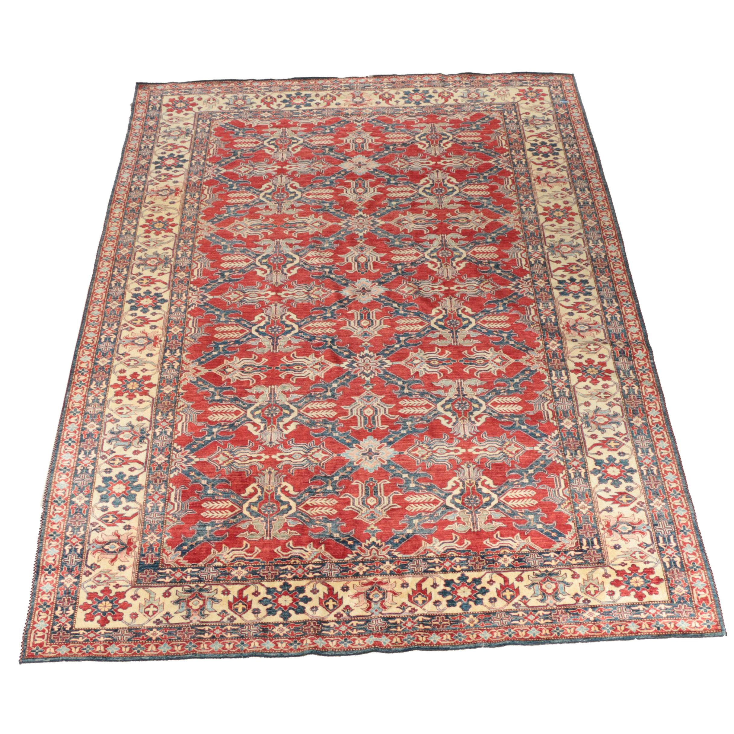 Hand-Knotted Indian Mahal Wool Room Sized Rug
