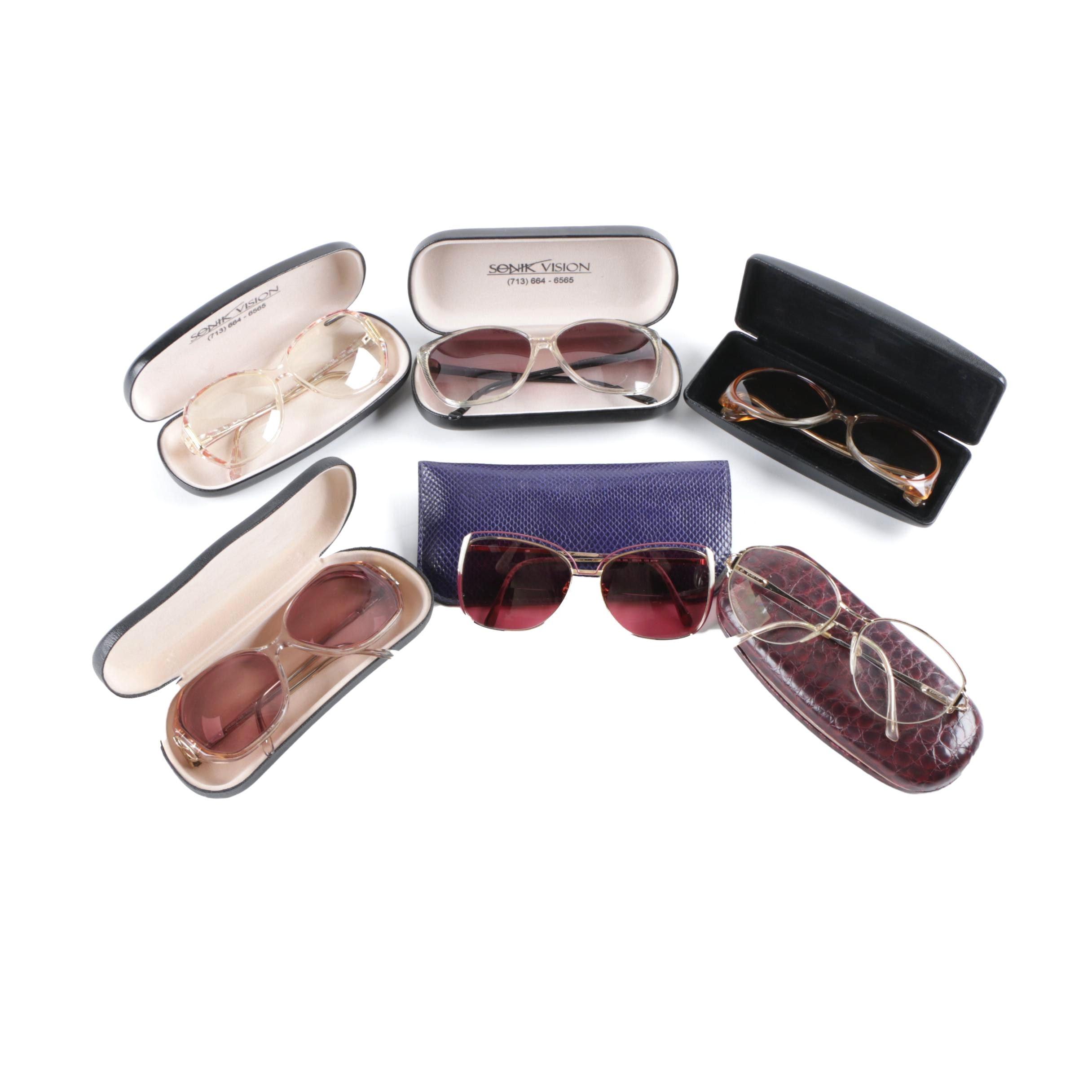 1970s and 1980s Sunglasses and Prescription Glasses Including Safilo, Luxottica