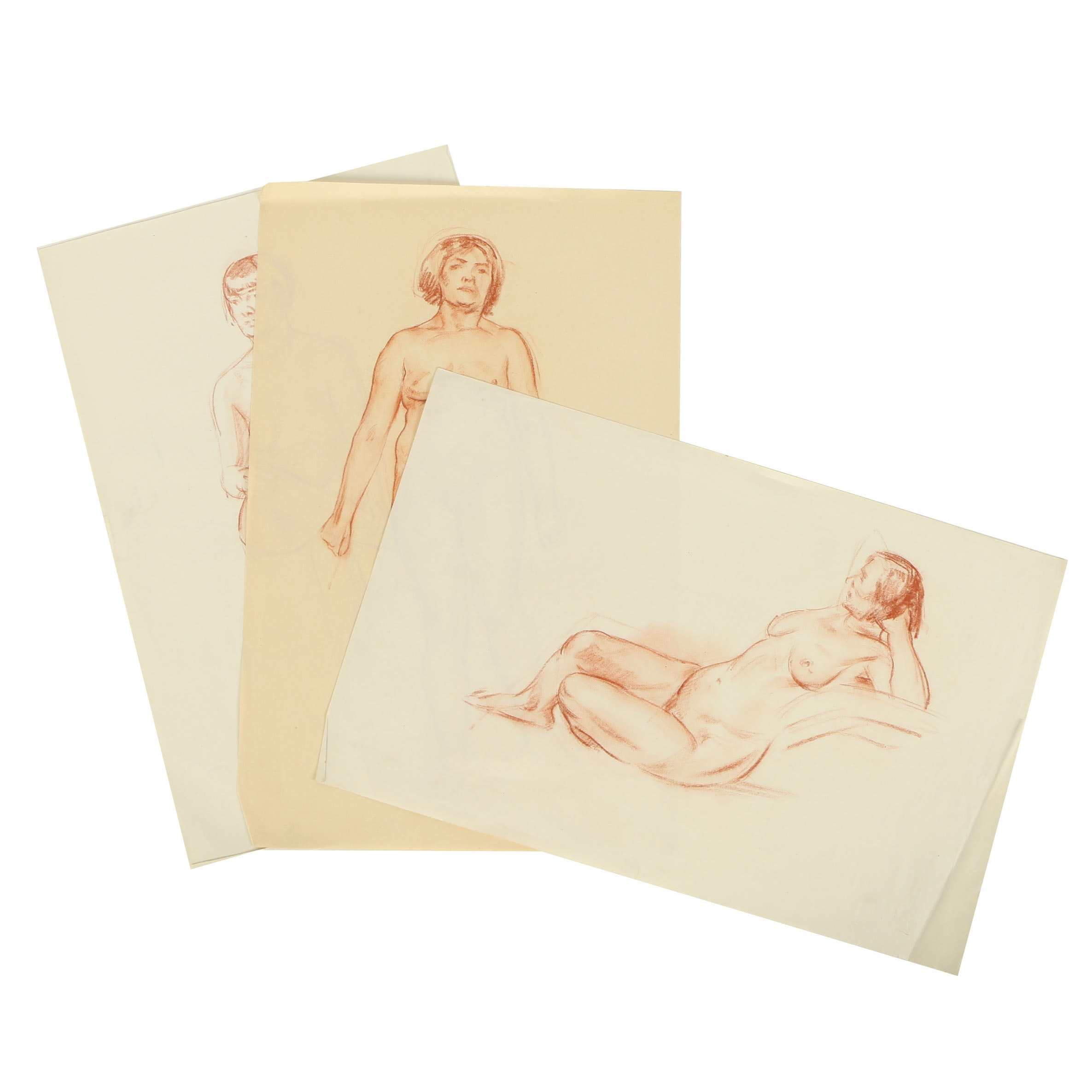 Carl Zimmerman Conté Crayon Sketches