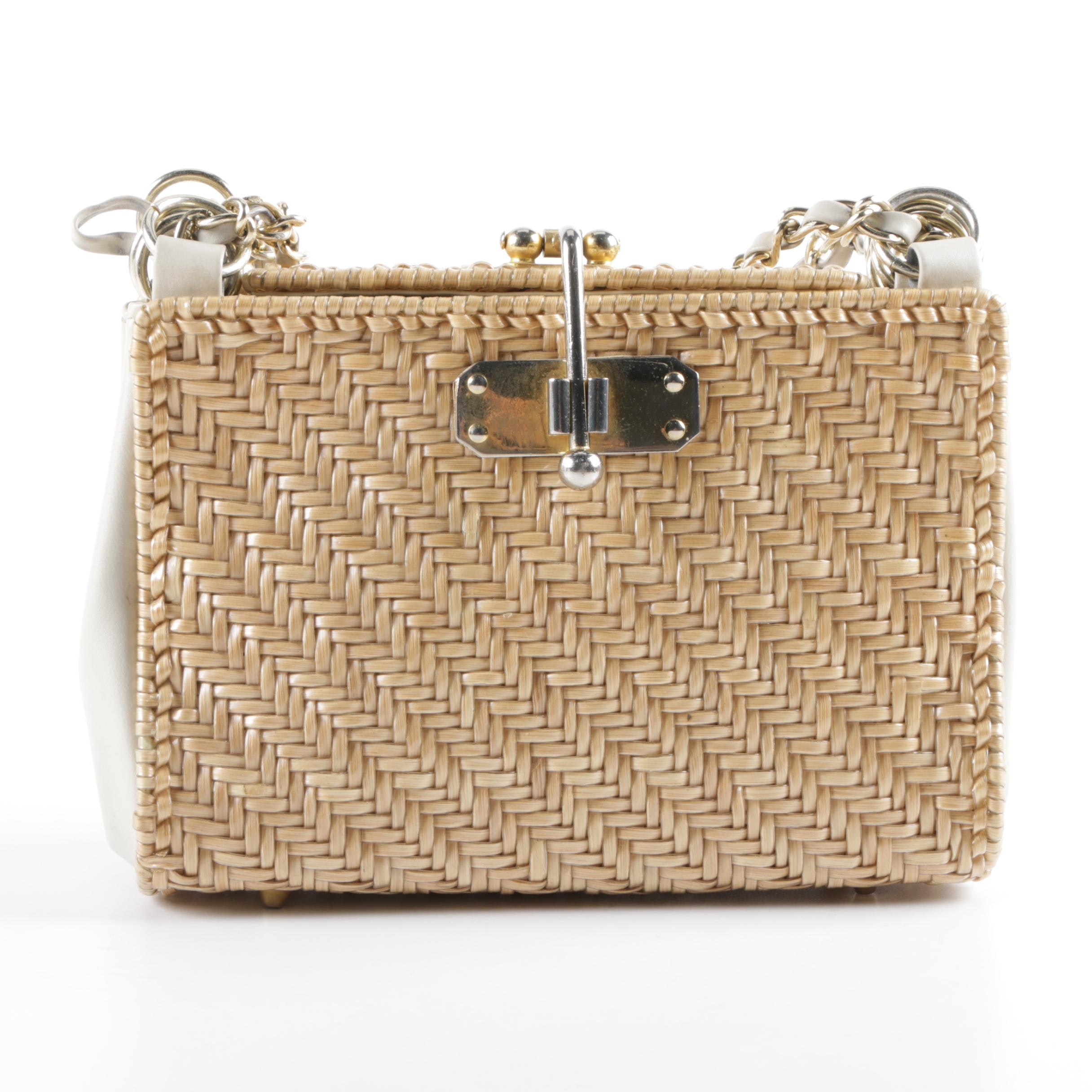 1960s Vintage Lesco Lona Woven Handbag