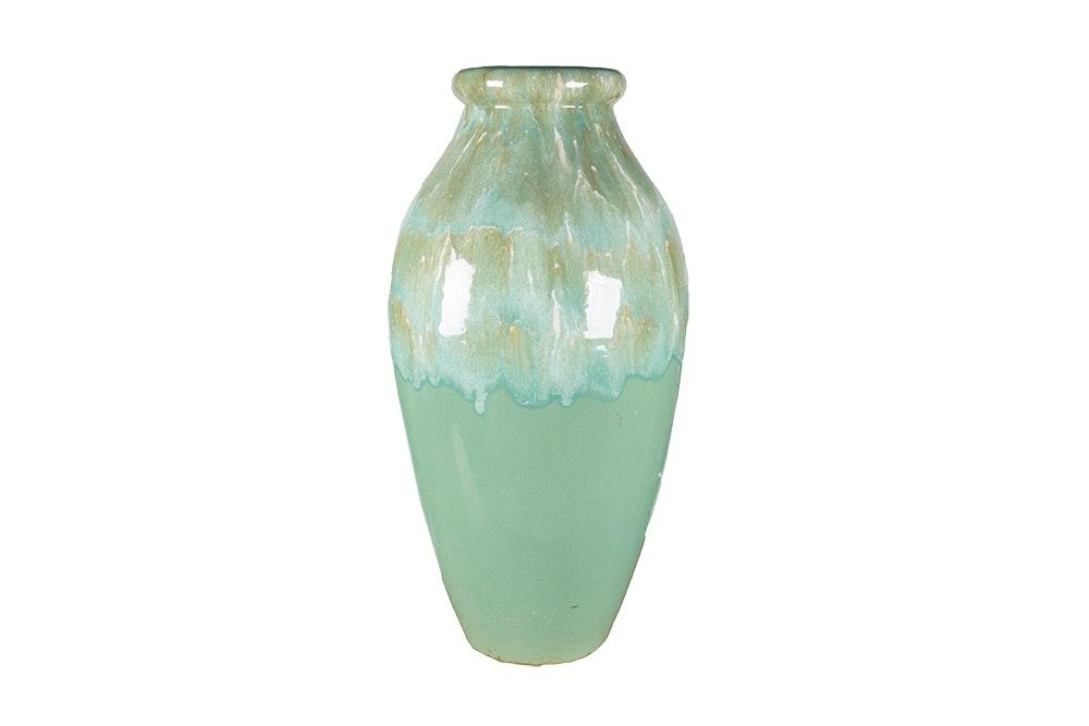 Large Celadon Robinson Ramsbottom Ceramic Vase