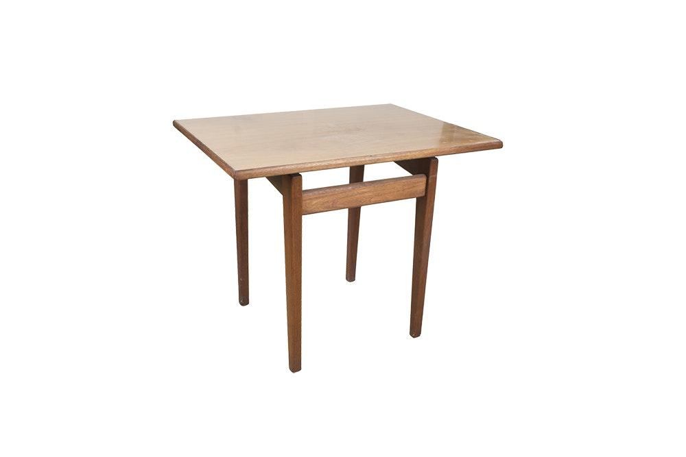 Jens Risom Walnut Floating Top Side Table