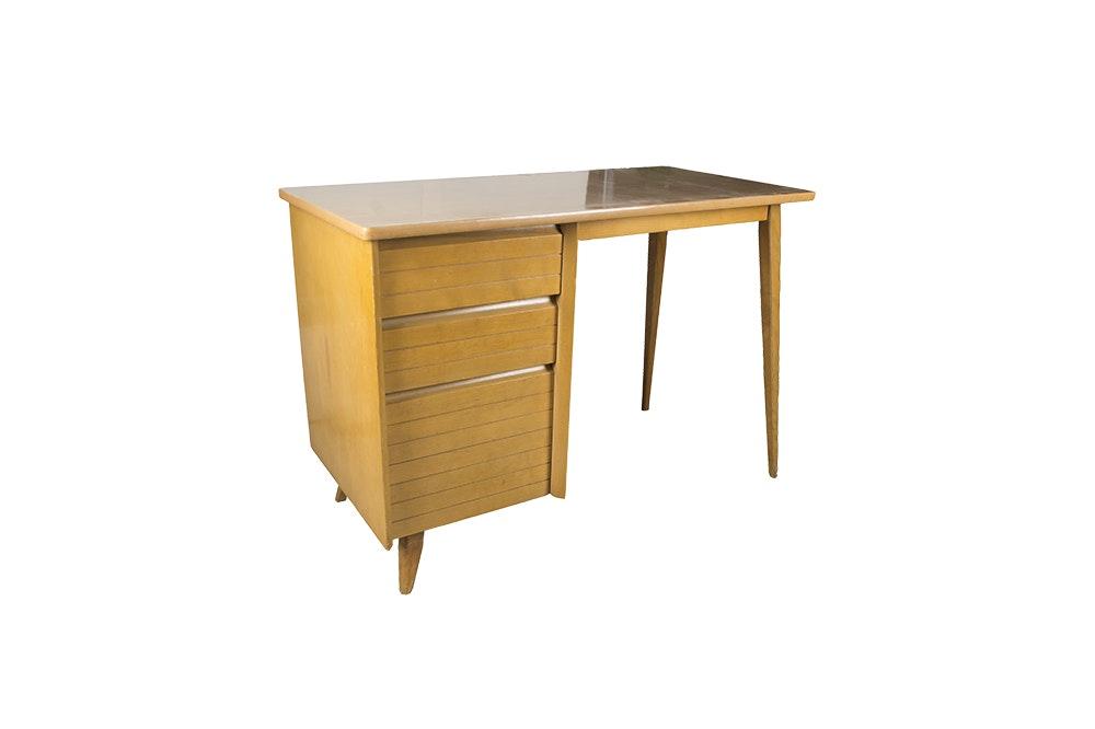 Mid Century Modern Student Desk by Baumritter