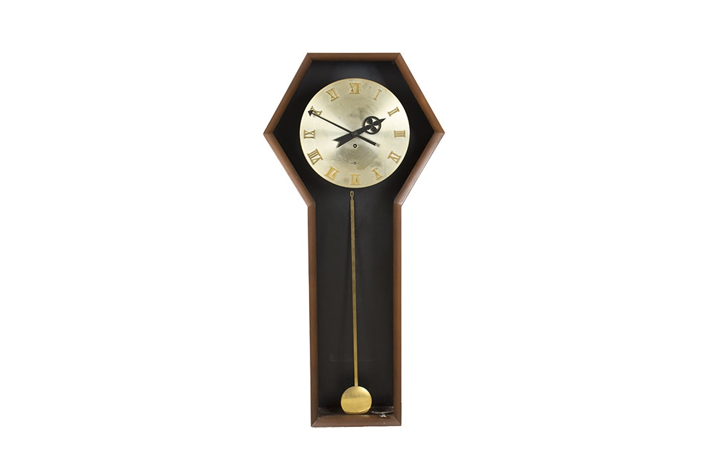 Arthur Umanoff for Howard Miller Mid Century Modern Wall Clock