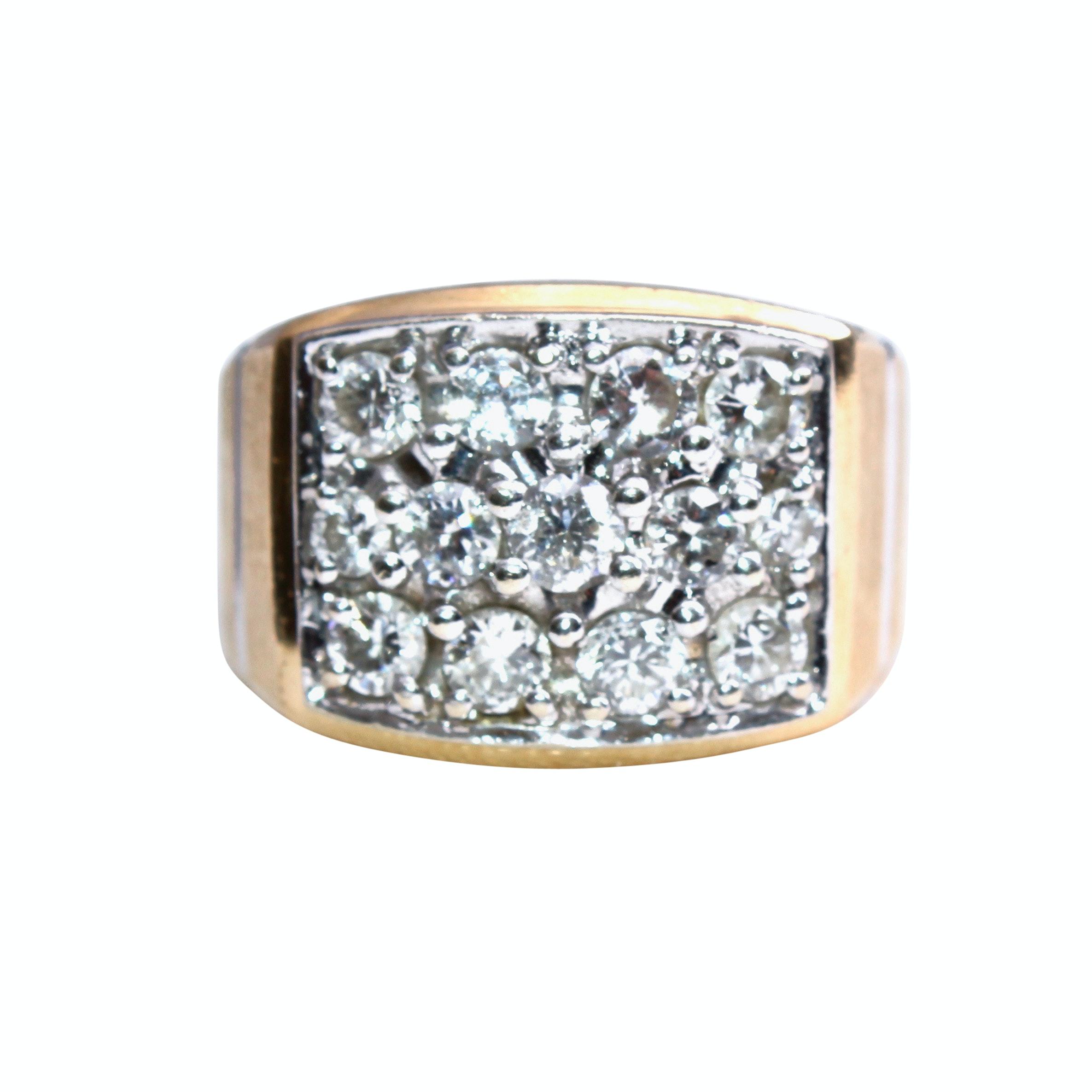 14K Yellow Gold 1.94 CTW Diamond Ring