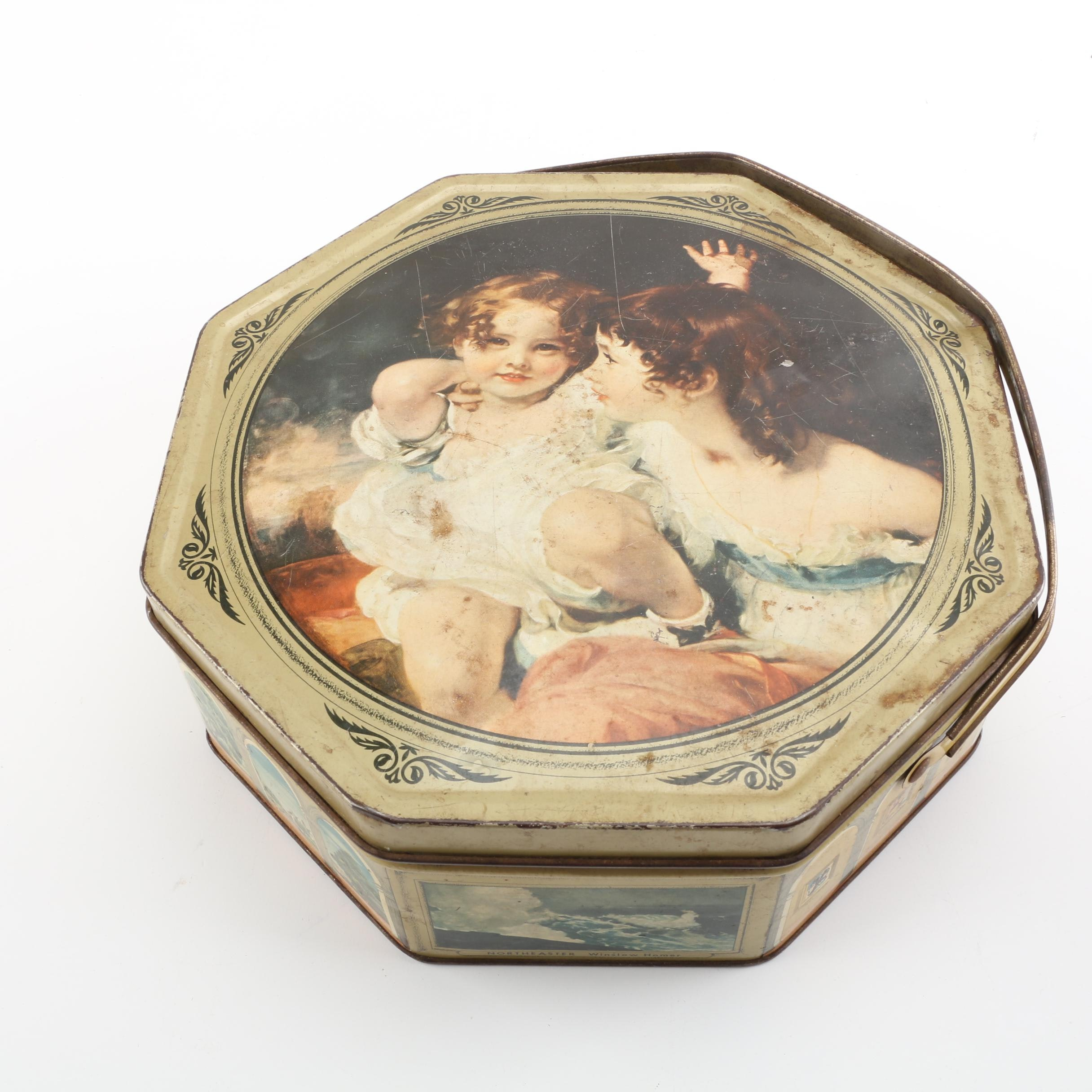 Vintage Tin With Vintage Buttons