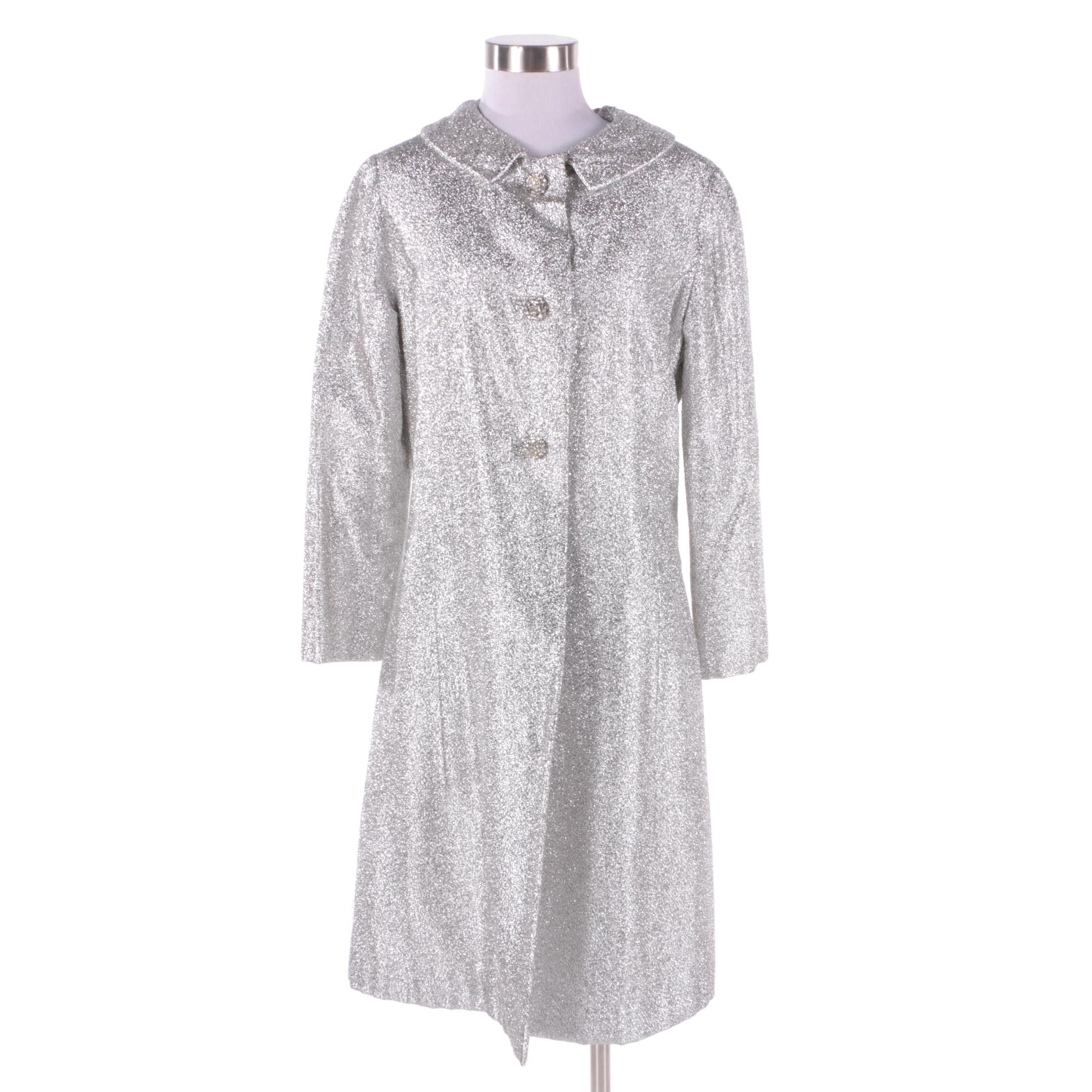 Women's 1960s Vintage Silver Metallic Coat