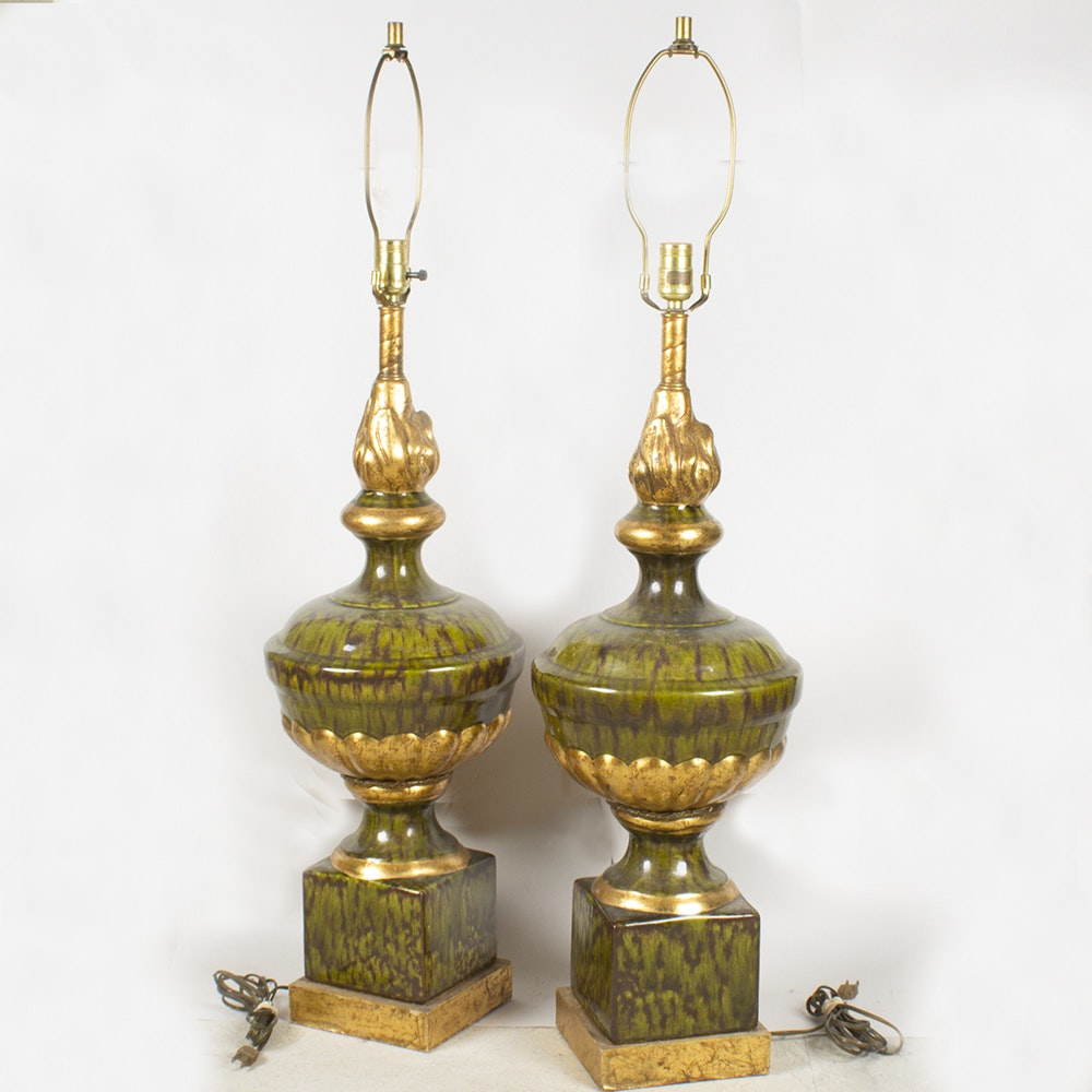 """Nardini Studio"" Vintage Glass Table Lamps"
