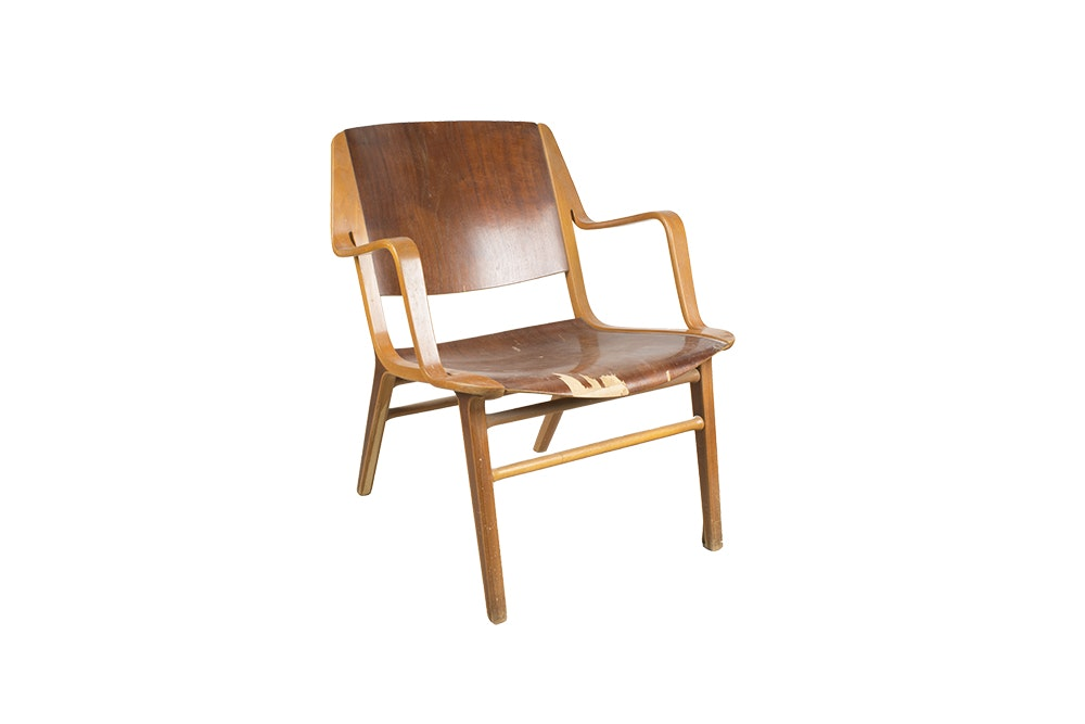 """AX"" Armchair by Peter Hvidt & Orla Mølgaard-Nielsen for Fritz Hansen"