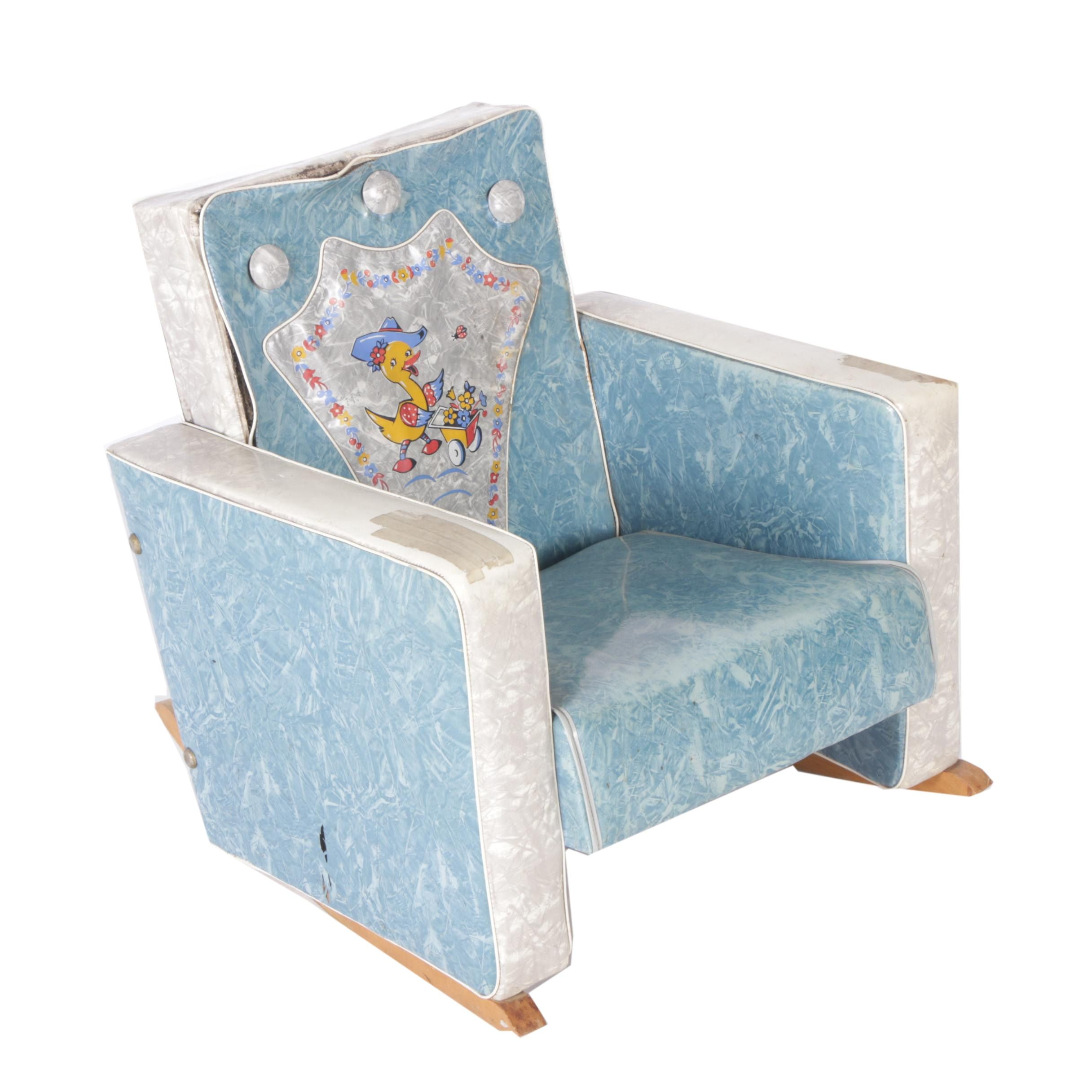 Child's Upholstered Rocking Chair