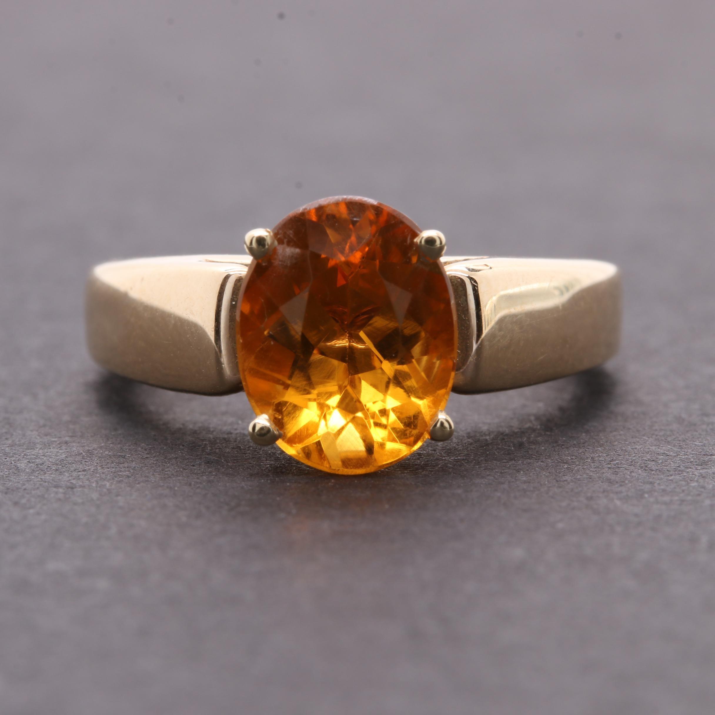 14K Yellow Gold Citrine Ring