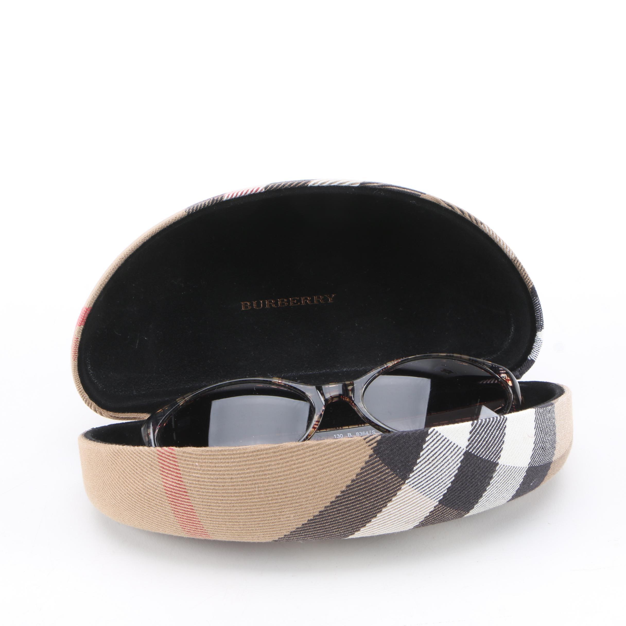 Burberry by Safilo Plaid Check Sunglasses with Case