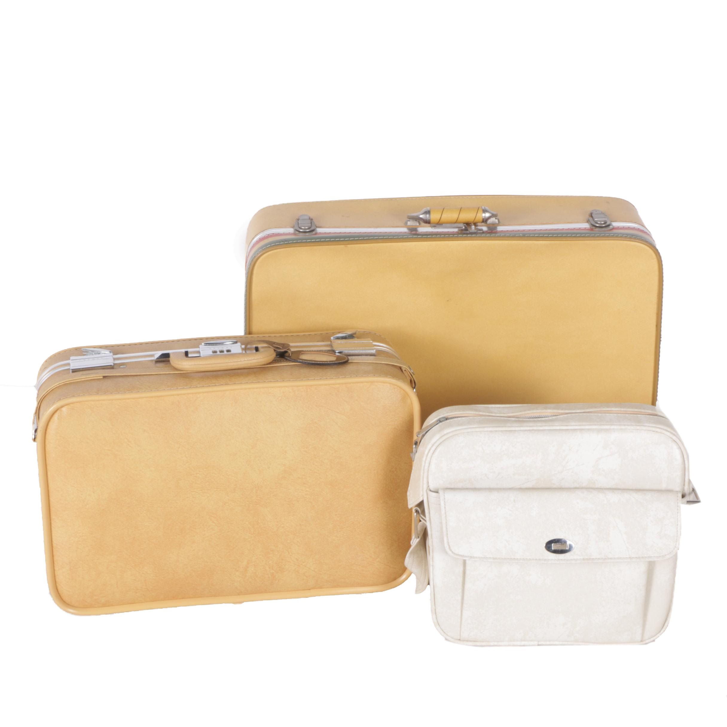 Vintage Suitcases Including Skyway and Samsonite Carry-On Bag