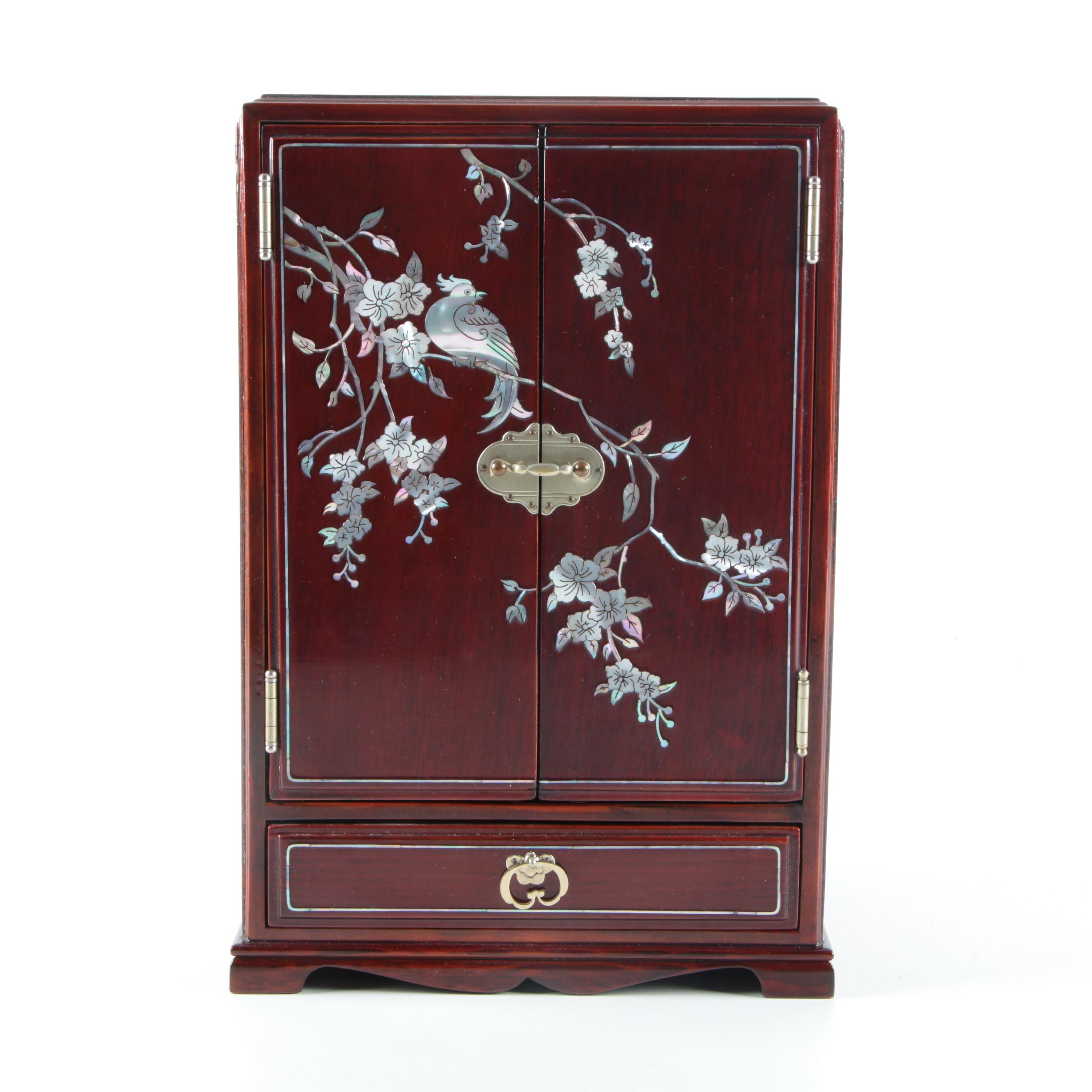 Chinese Inlaid Abalone Jewelry Box EBTH