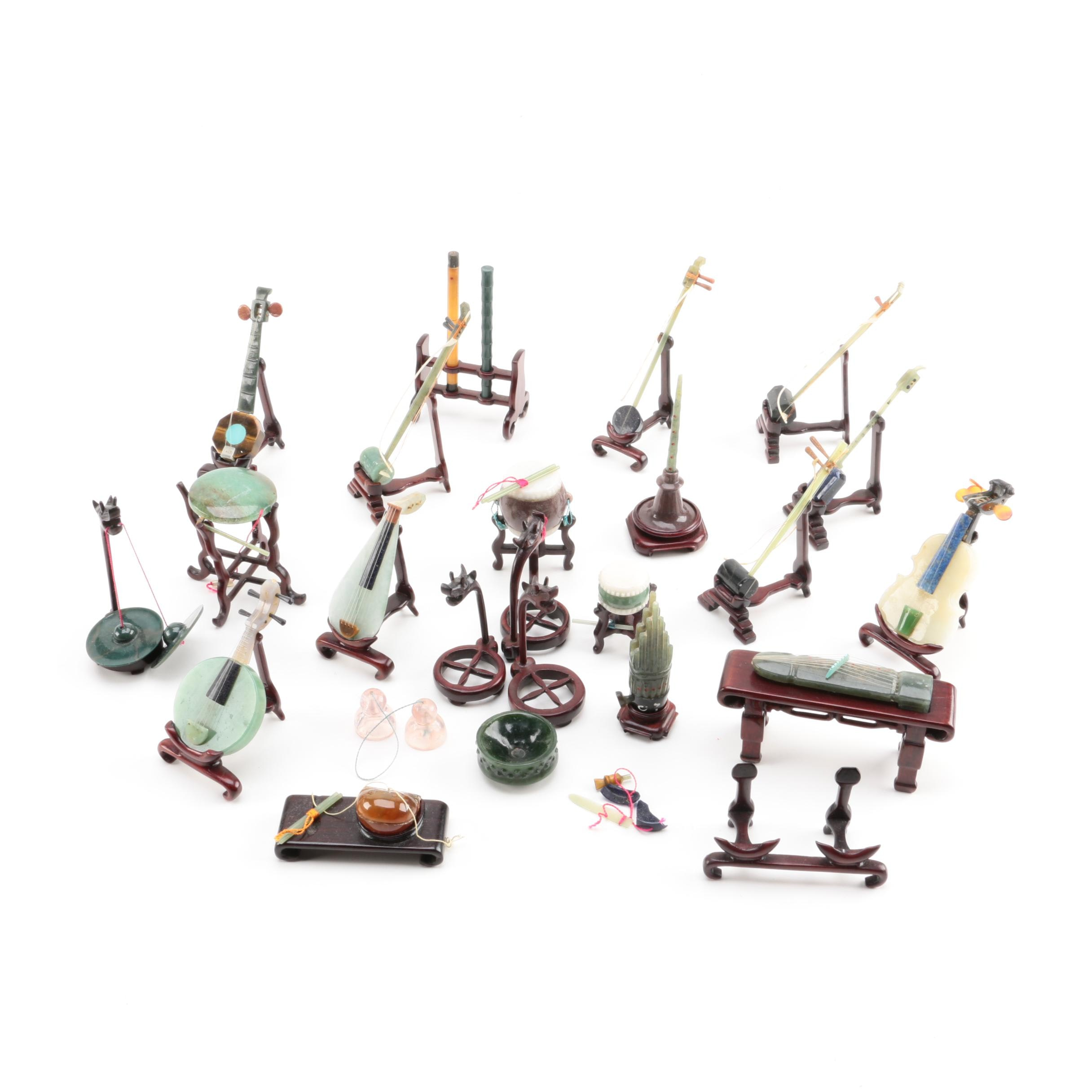 Miniature Chinese Carved Stone Instruments