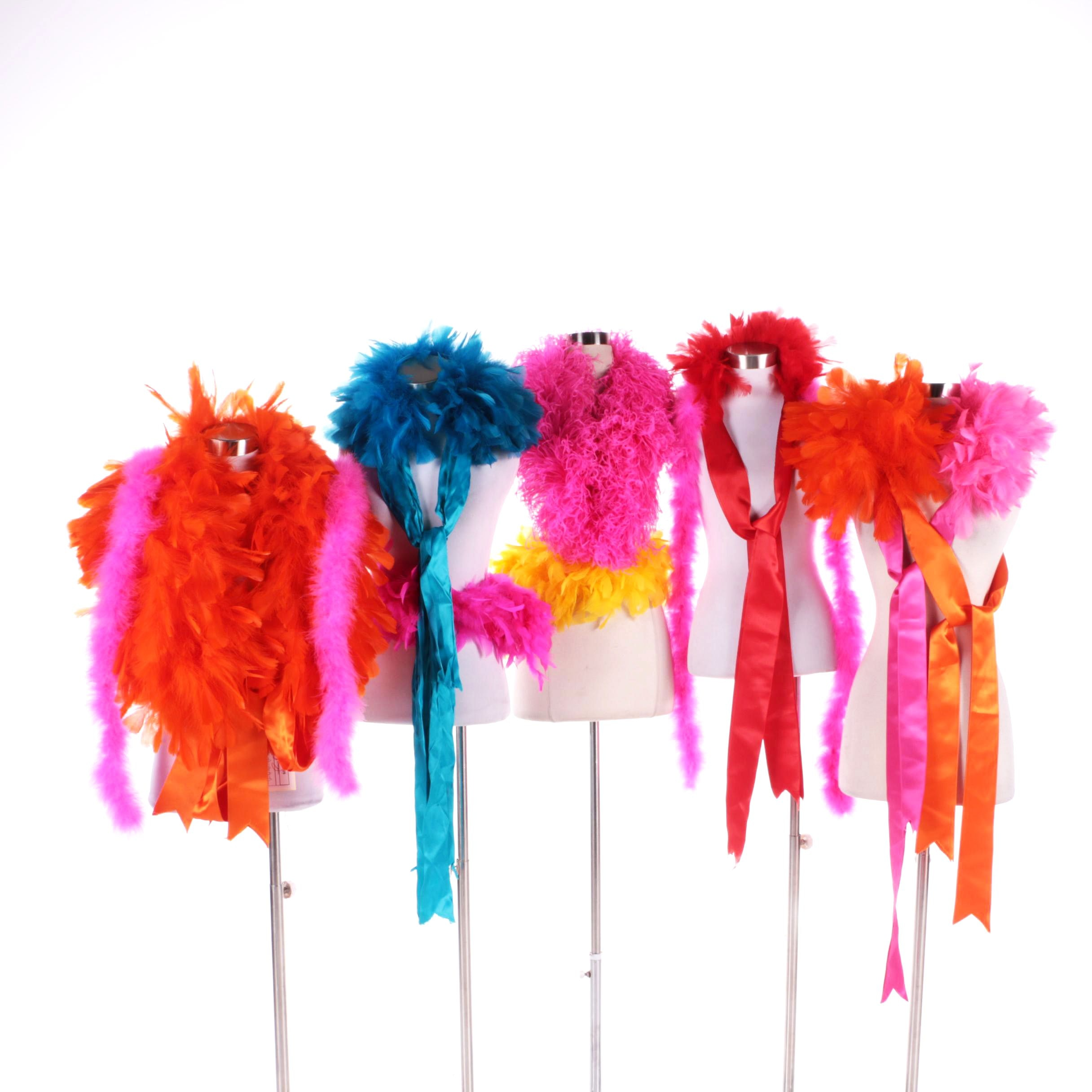 1989 Fall-Winter Patrick Kelly Colorful Vintage Feather Boas