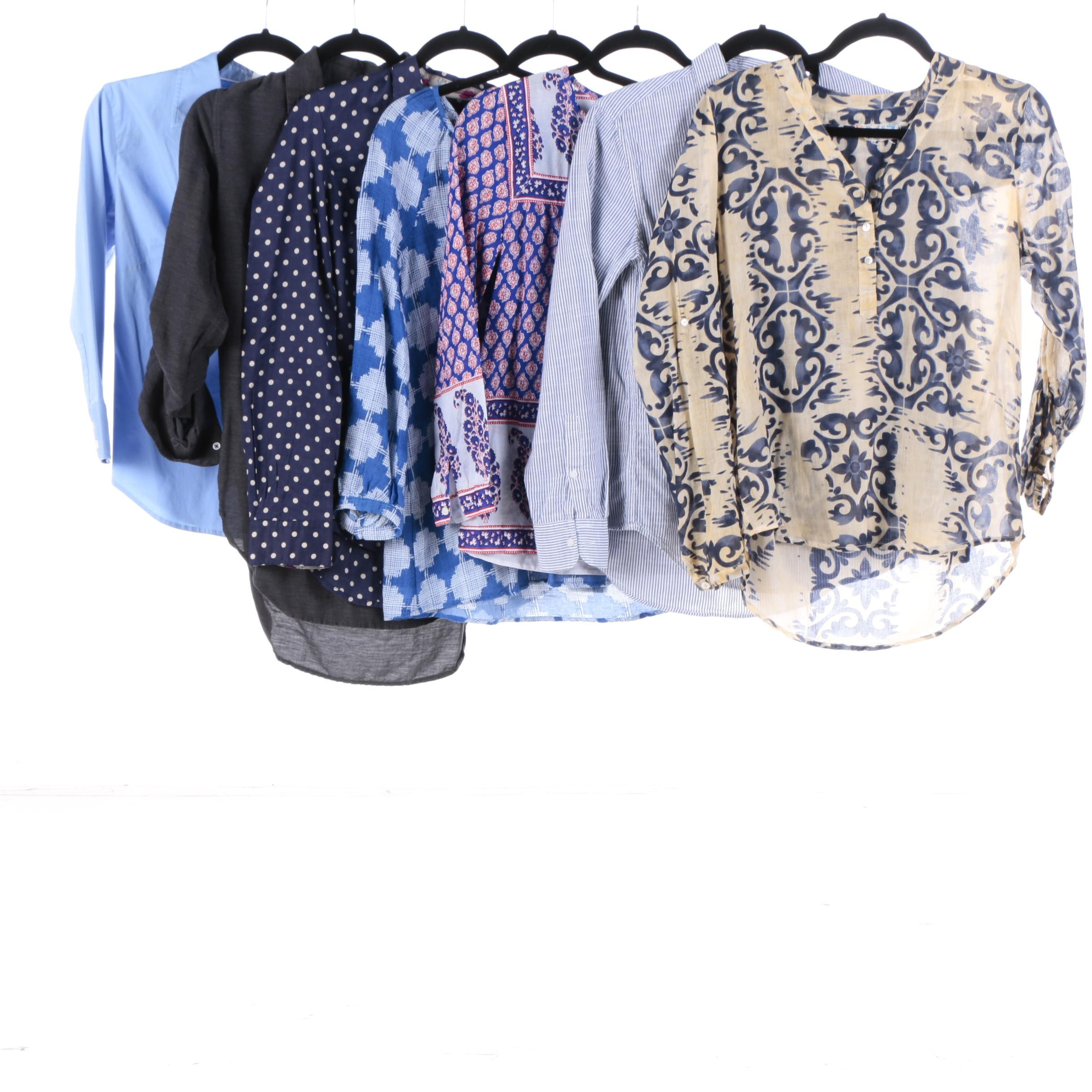 Women's Shirts in Prints and Solids Featuring J. Crew, Gap, Dolma