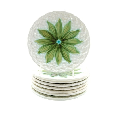 """Schramberger Majolikafabrik """"Lily of the Valley"""" Plates, Early 20th Century"""