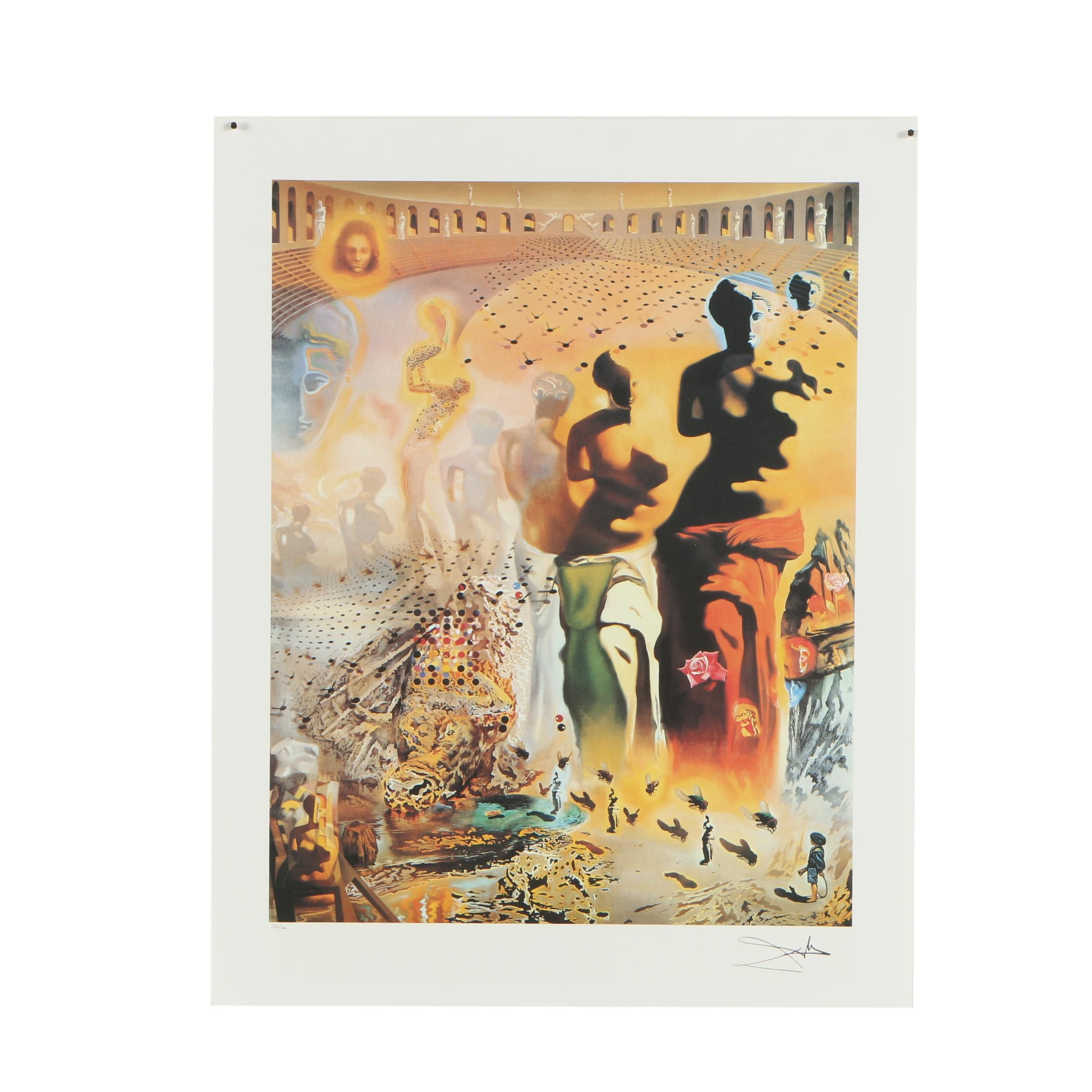 """Limited Edition Offset Lithograph After Dali """"The Hallucinogenic Toreador"""""""