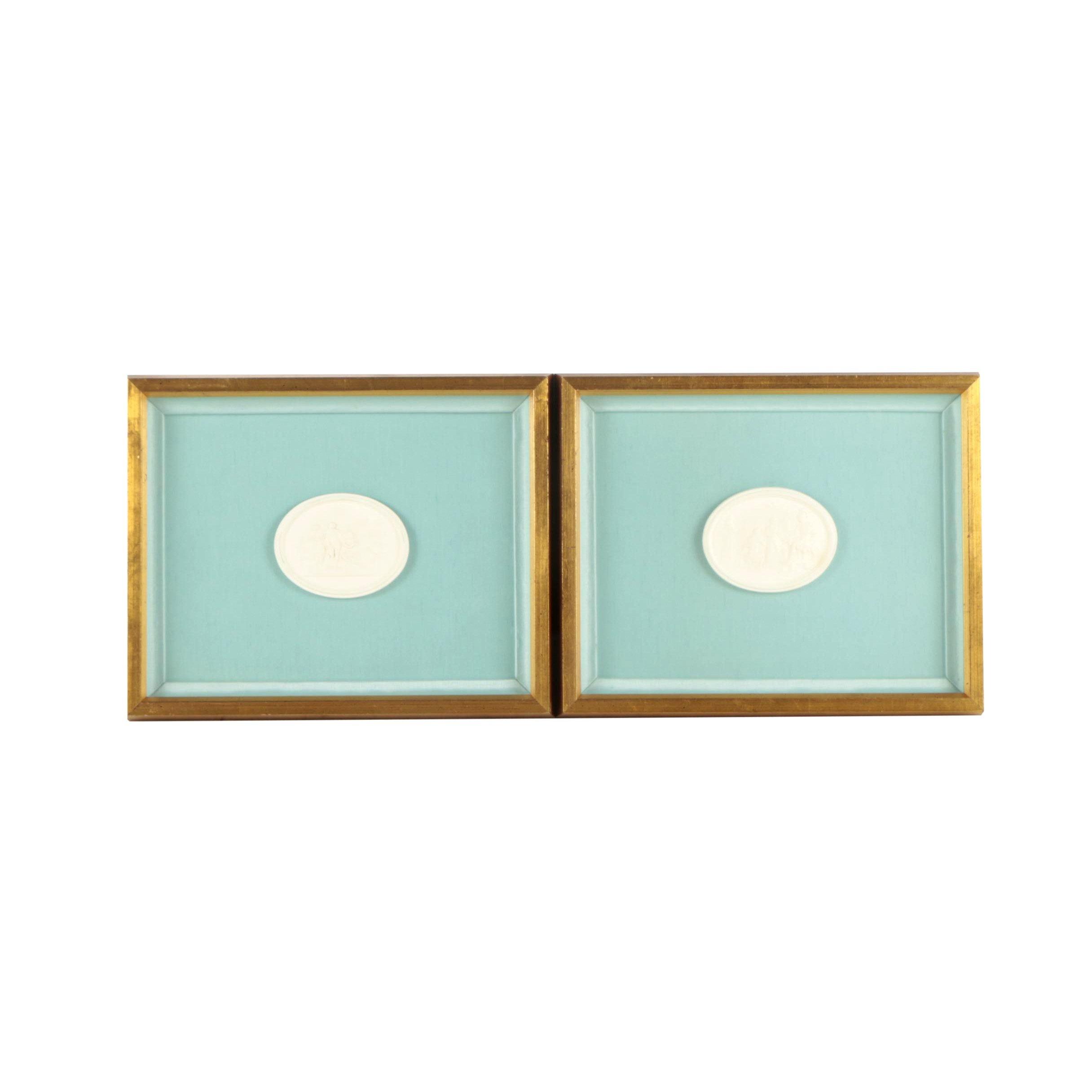 Framed Grand Tour Style Plaster Intaglios