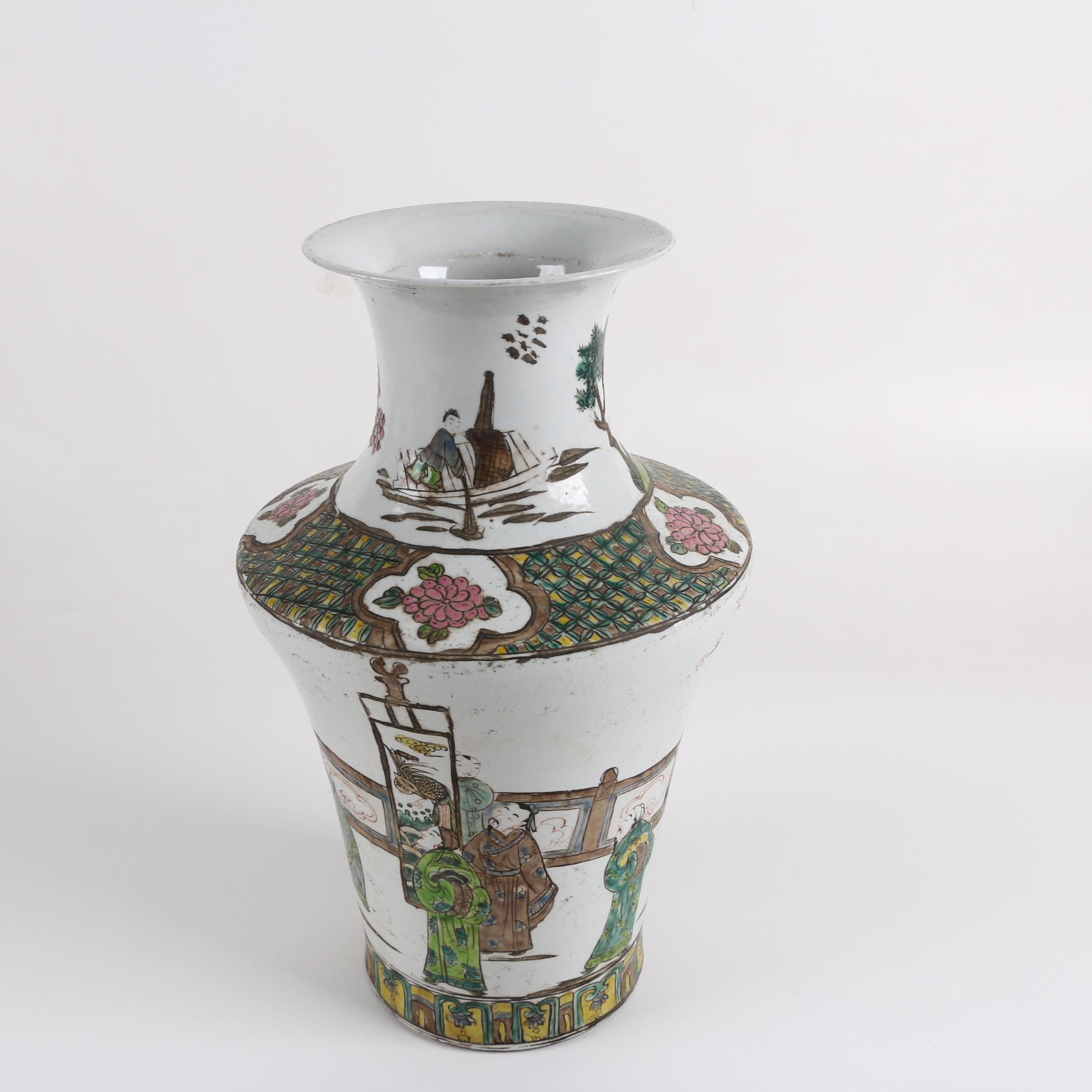 Chinese Hand-Painted Ceramic Vase