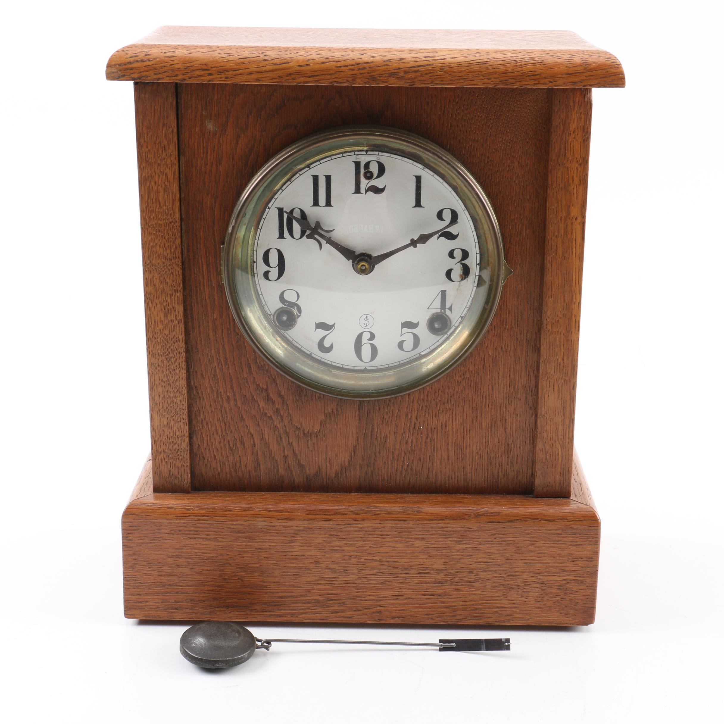 Seth Thomas Mission Style Wooden Mantel Clock