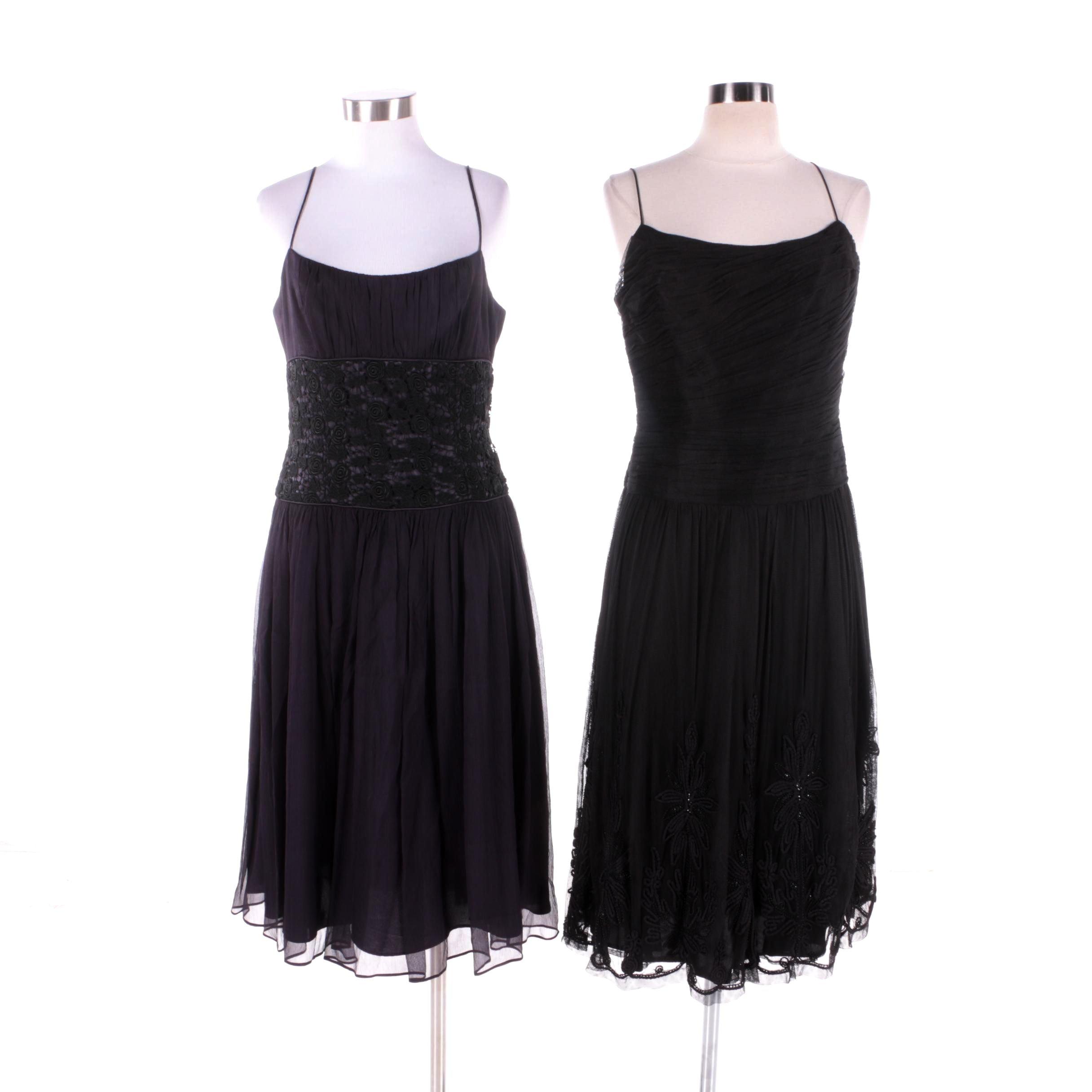 Laundry and Carmen Marc Valvo Slip Dresses