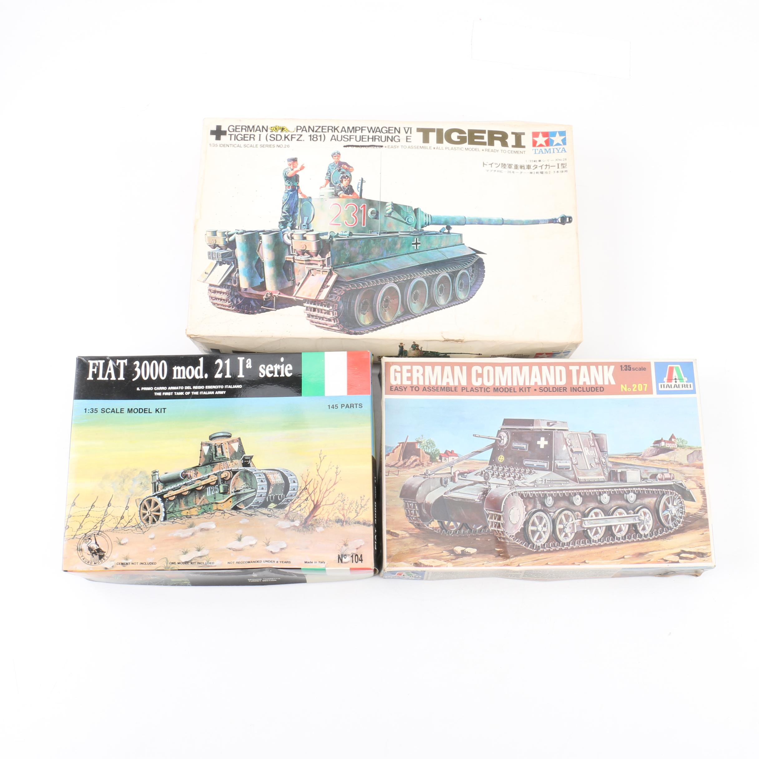 Military Vehicle Model Kits Including Tamiya