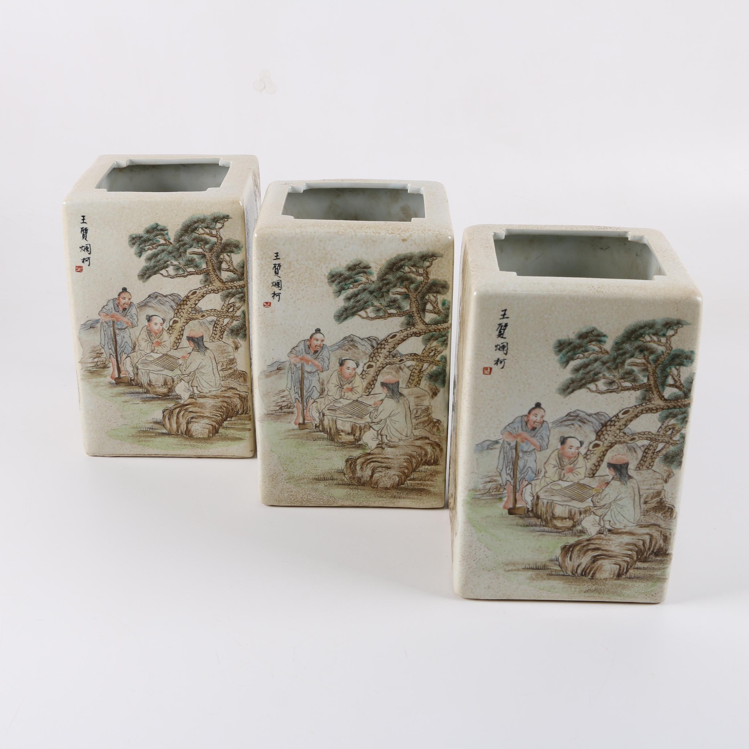 Chinese Pictorial Ceramic Vases
