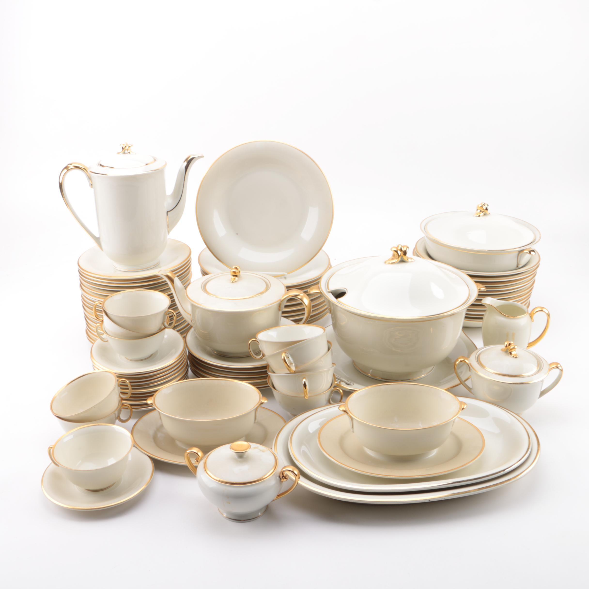 "Vintage Hutschenreuther ""Margarete"" Porcelain Tableware ca. 1945-49"