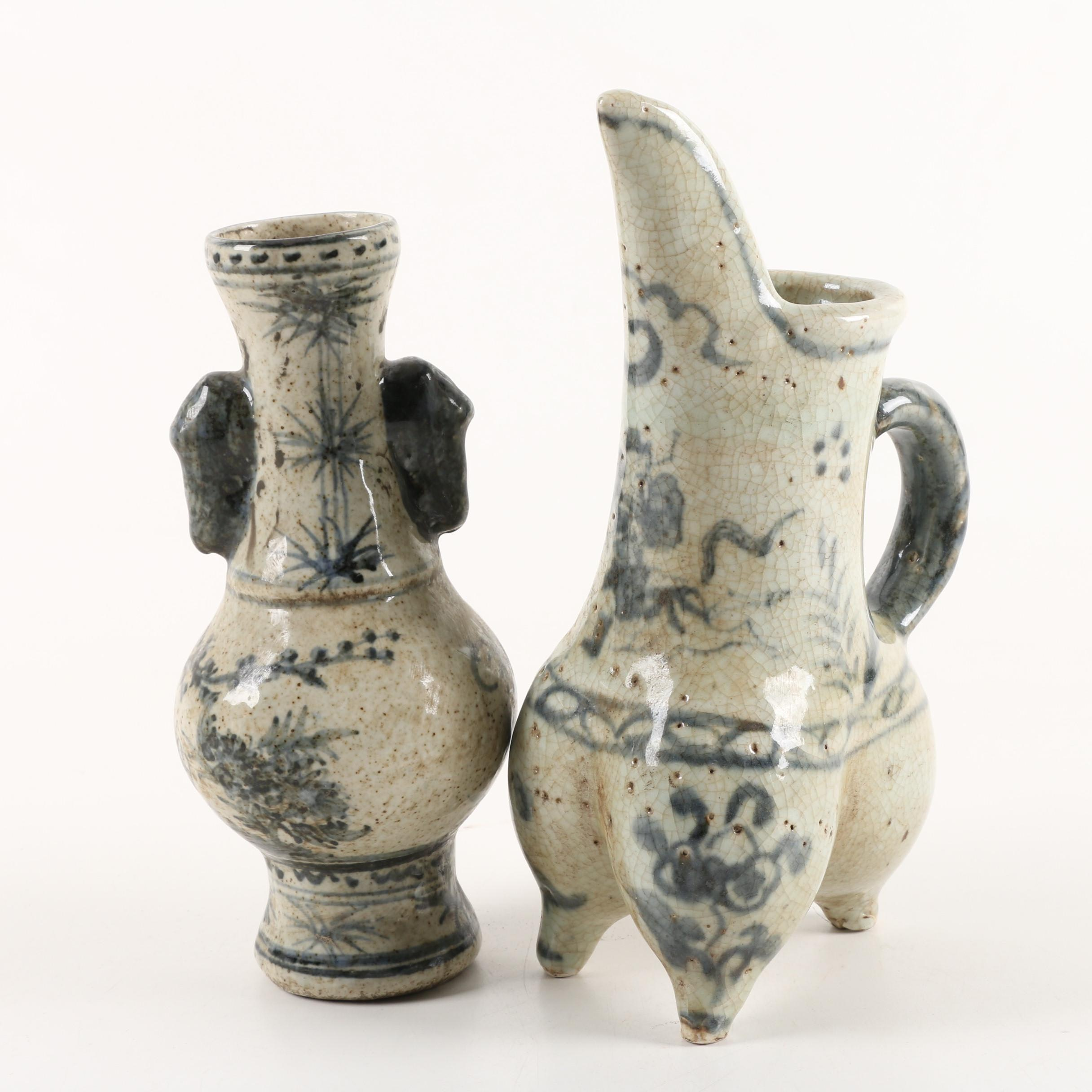 Chinese Provincial Style Blue and White Ceramics
