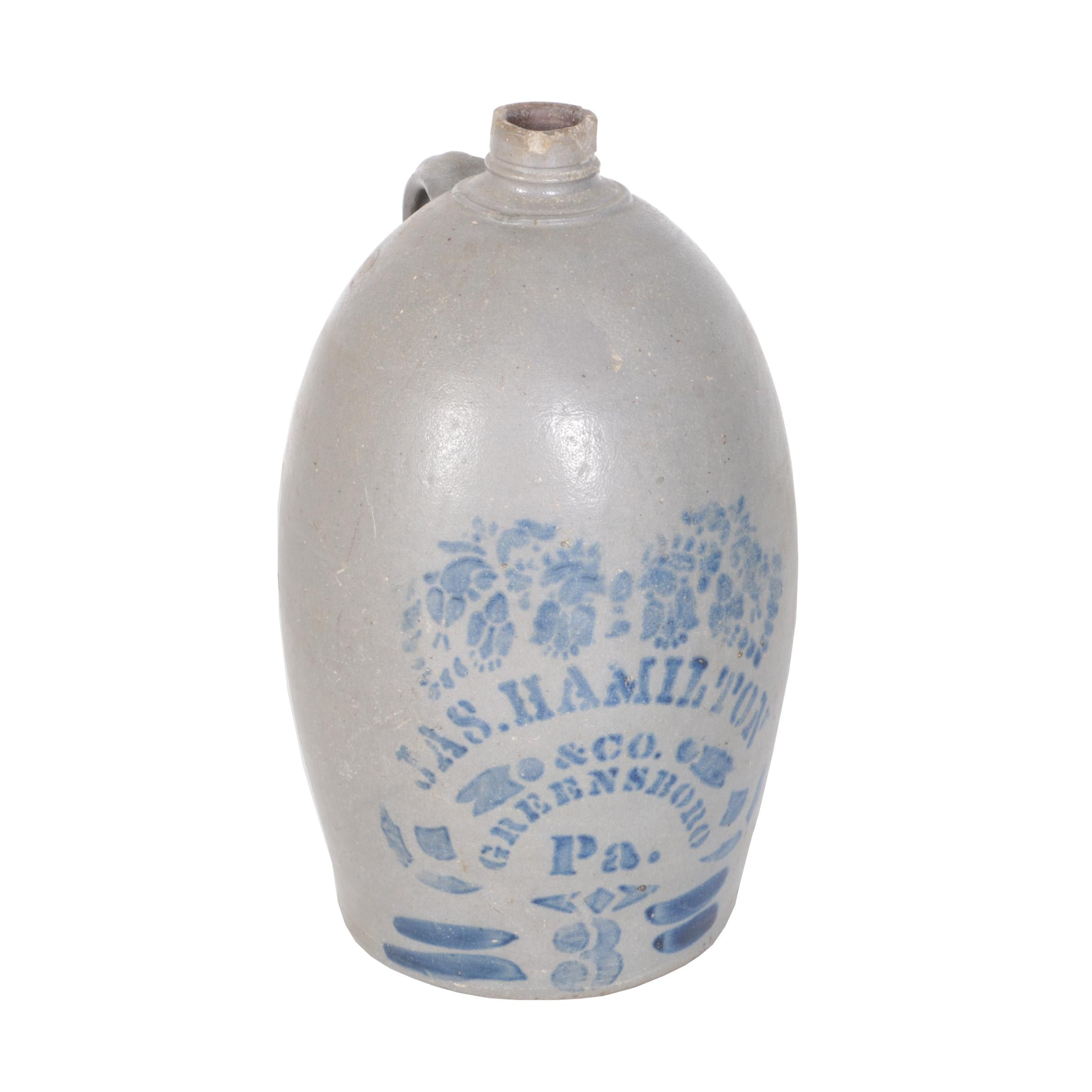 James Hamilton & Co. Stoneware Crock, Greensboro, Pennsylvania
