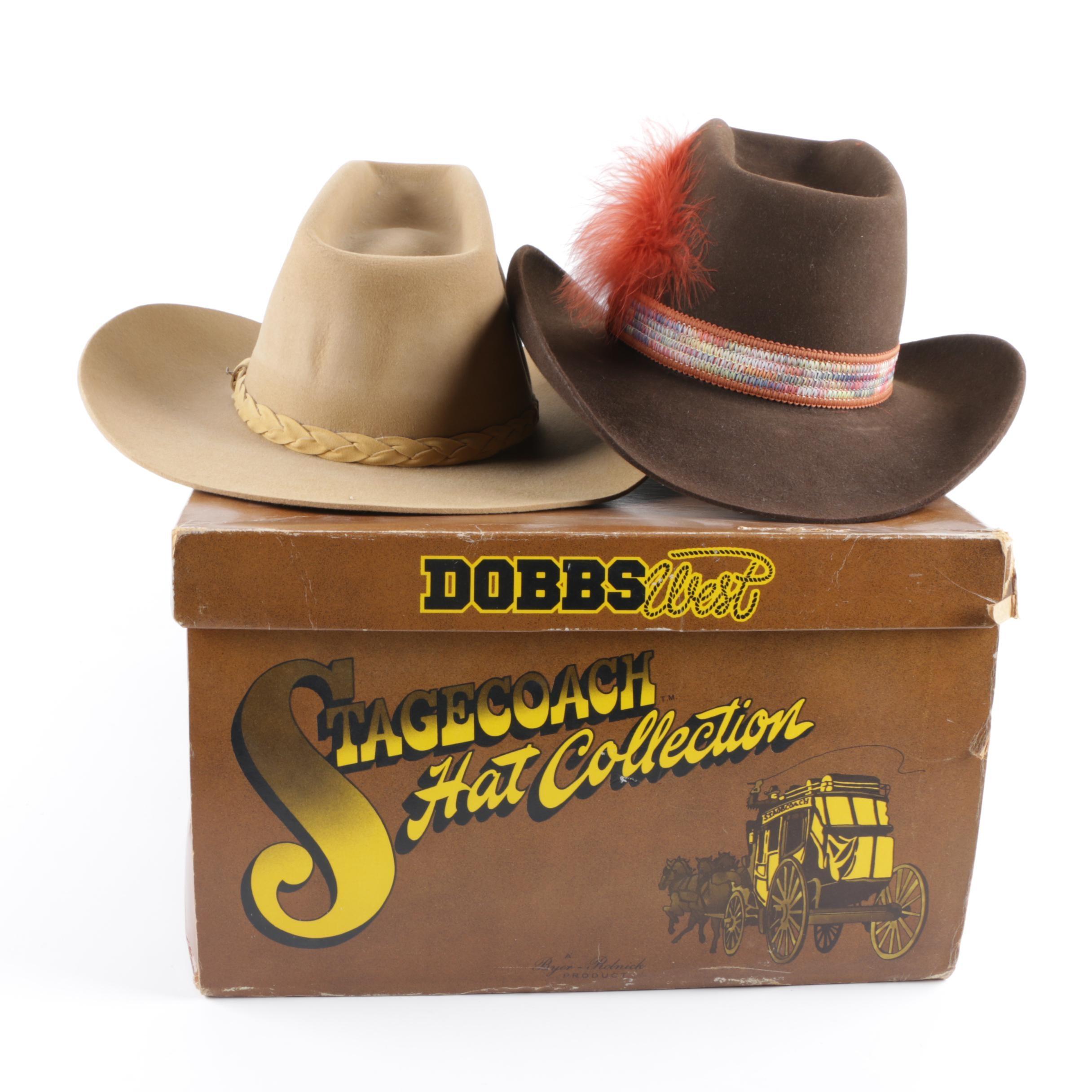 Men's Vintage Stetson 4X Beaver Felt Western Hats