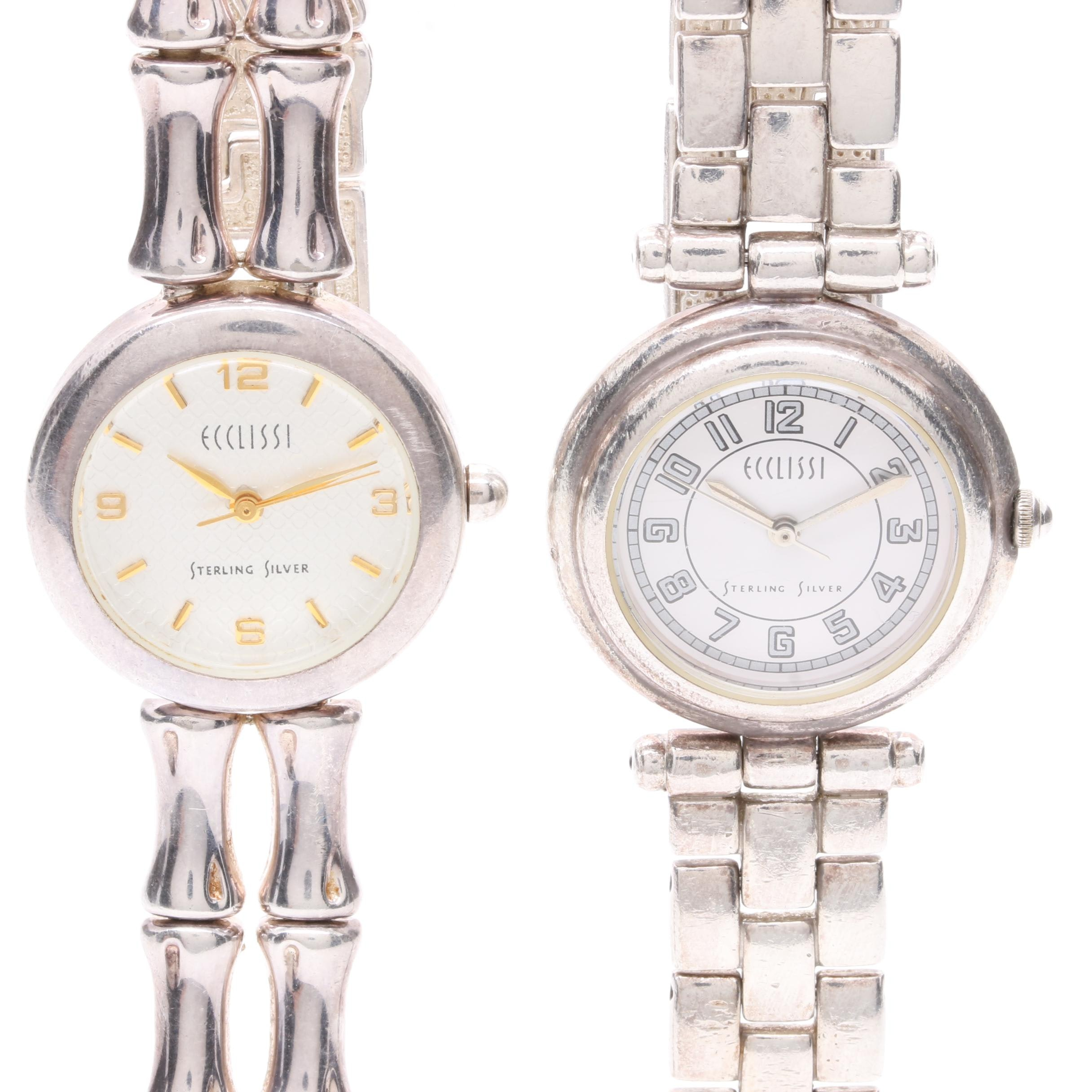 Ecclissi Sterling Silver Analog Watches