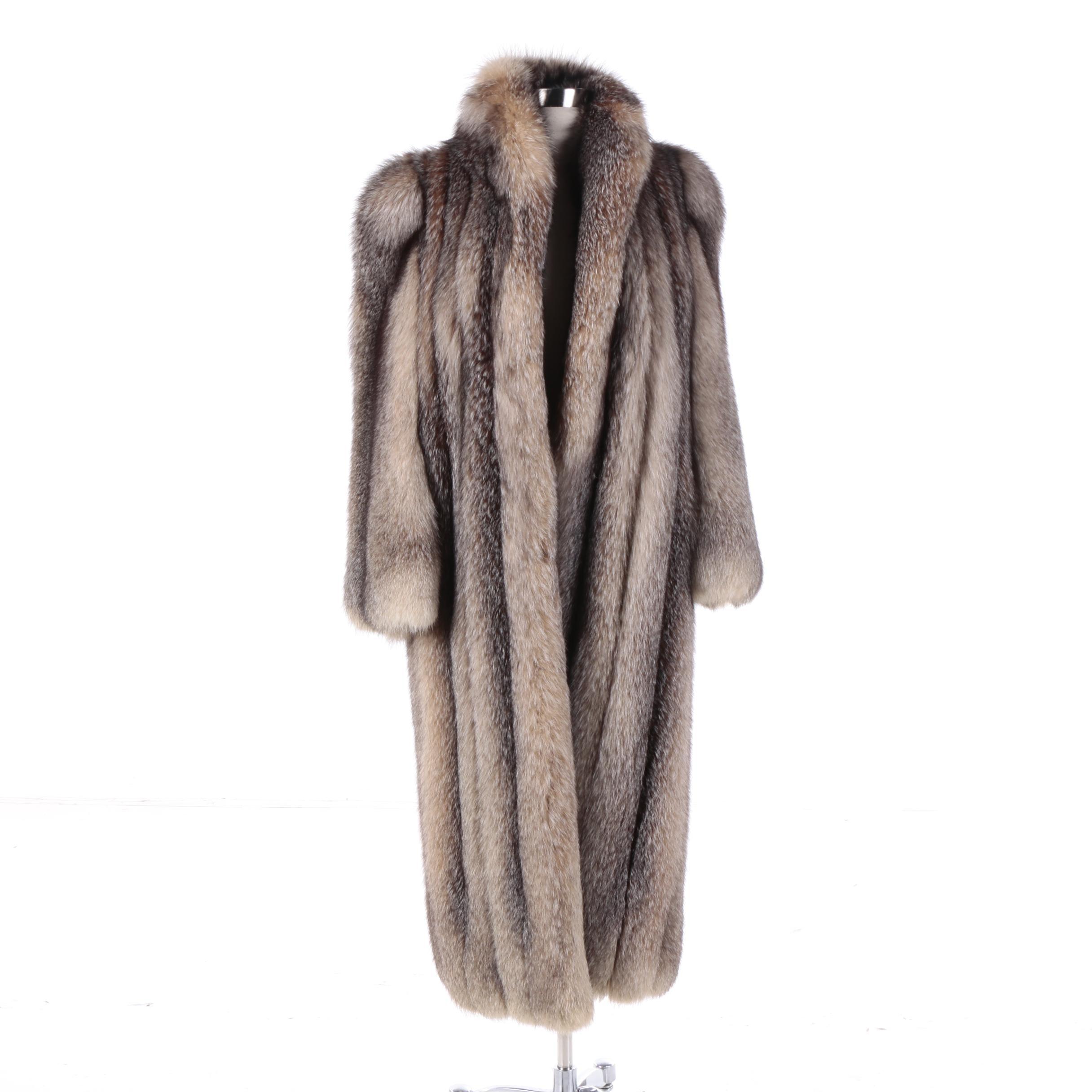 Women's Tanuki Fur Coat