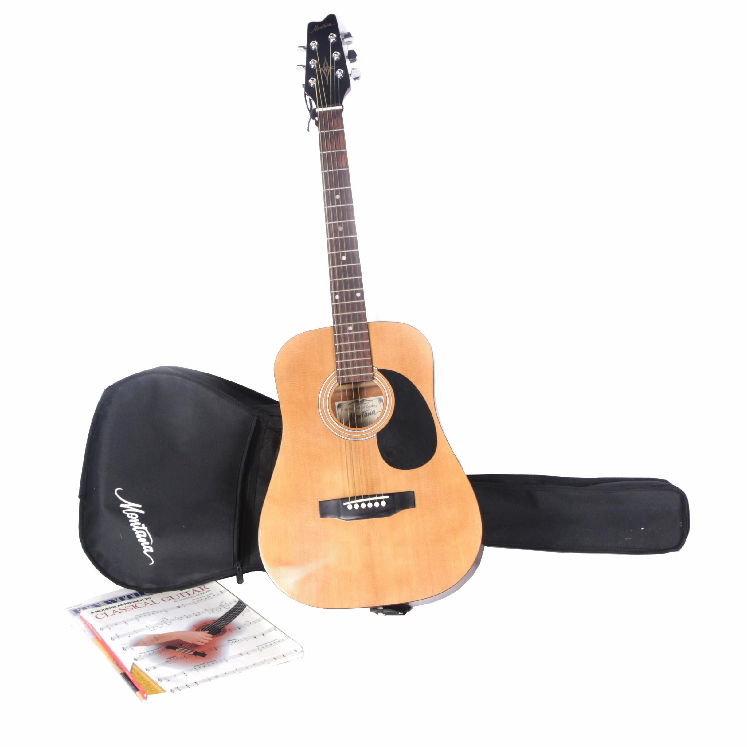 Montana MT570GK Dreadnought Acoustic Guitar with Gig Bag