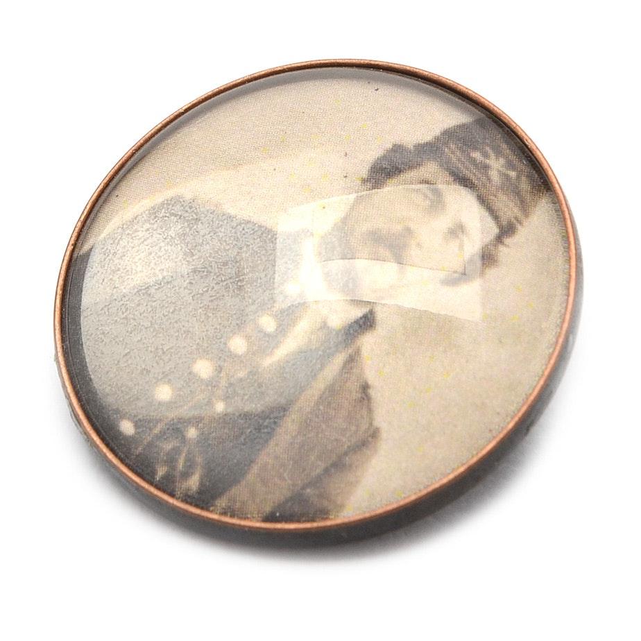 Handmade Replica Civil War Photograph Button