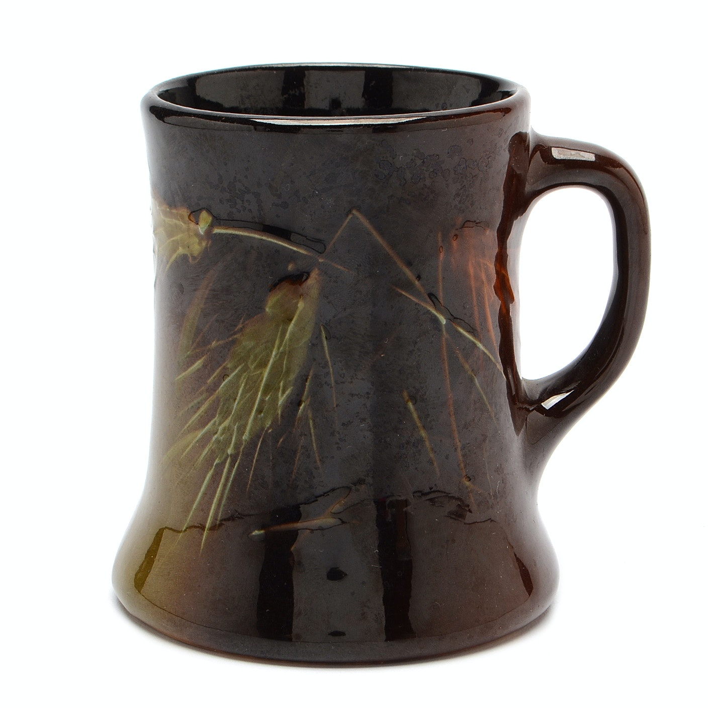 Roseville Pottery Dark Brown Rozanne Mug